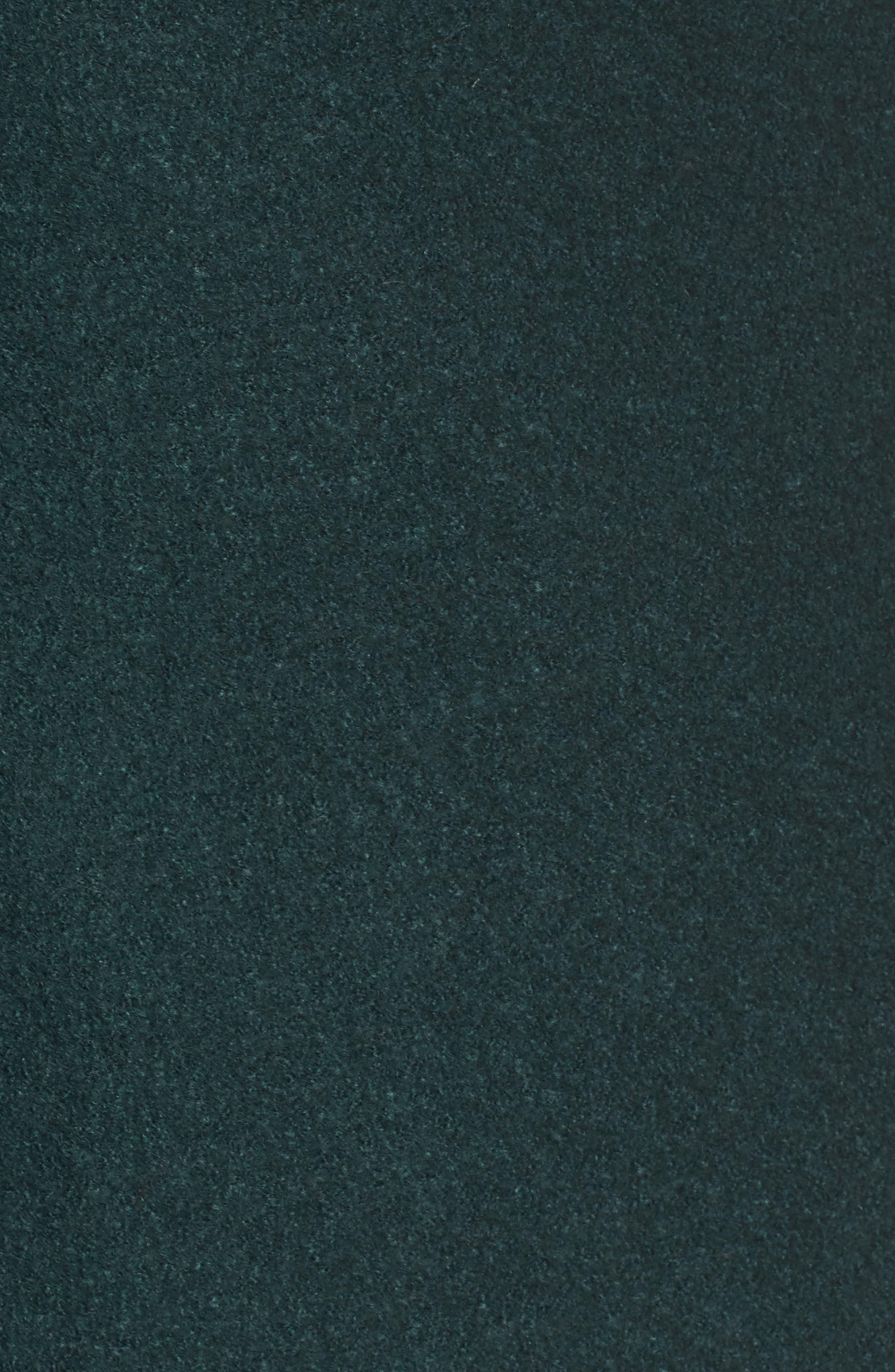 Asymmetrical Zip Boiled Wool Blend Coat,                             Alternate thumbnail 5, color,                             Green Ponderosa