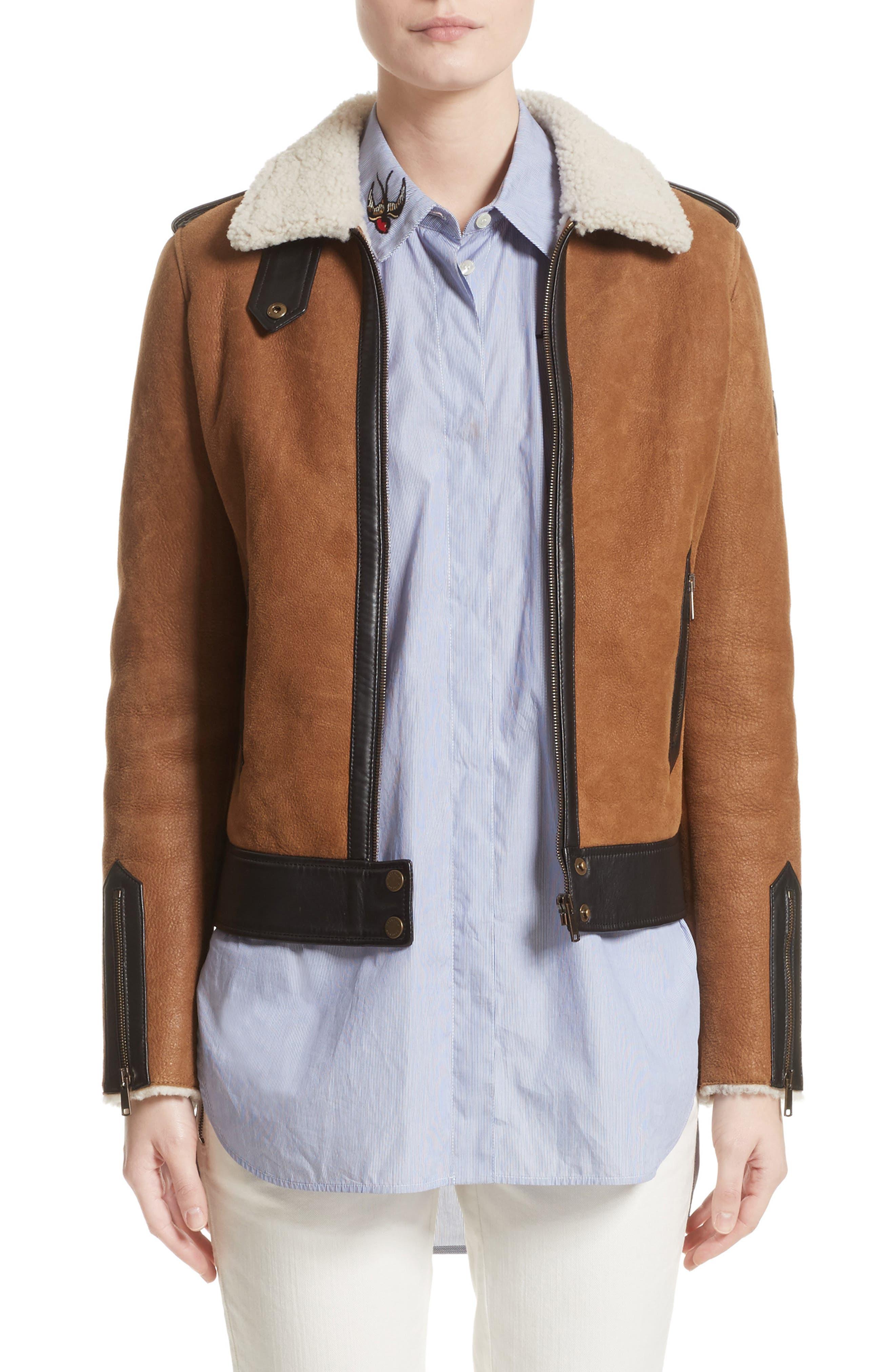 Main Image - Belstaff Danford Genuine Shearling Jacket