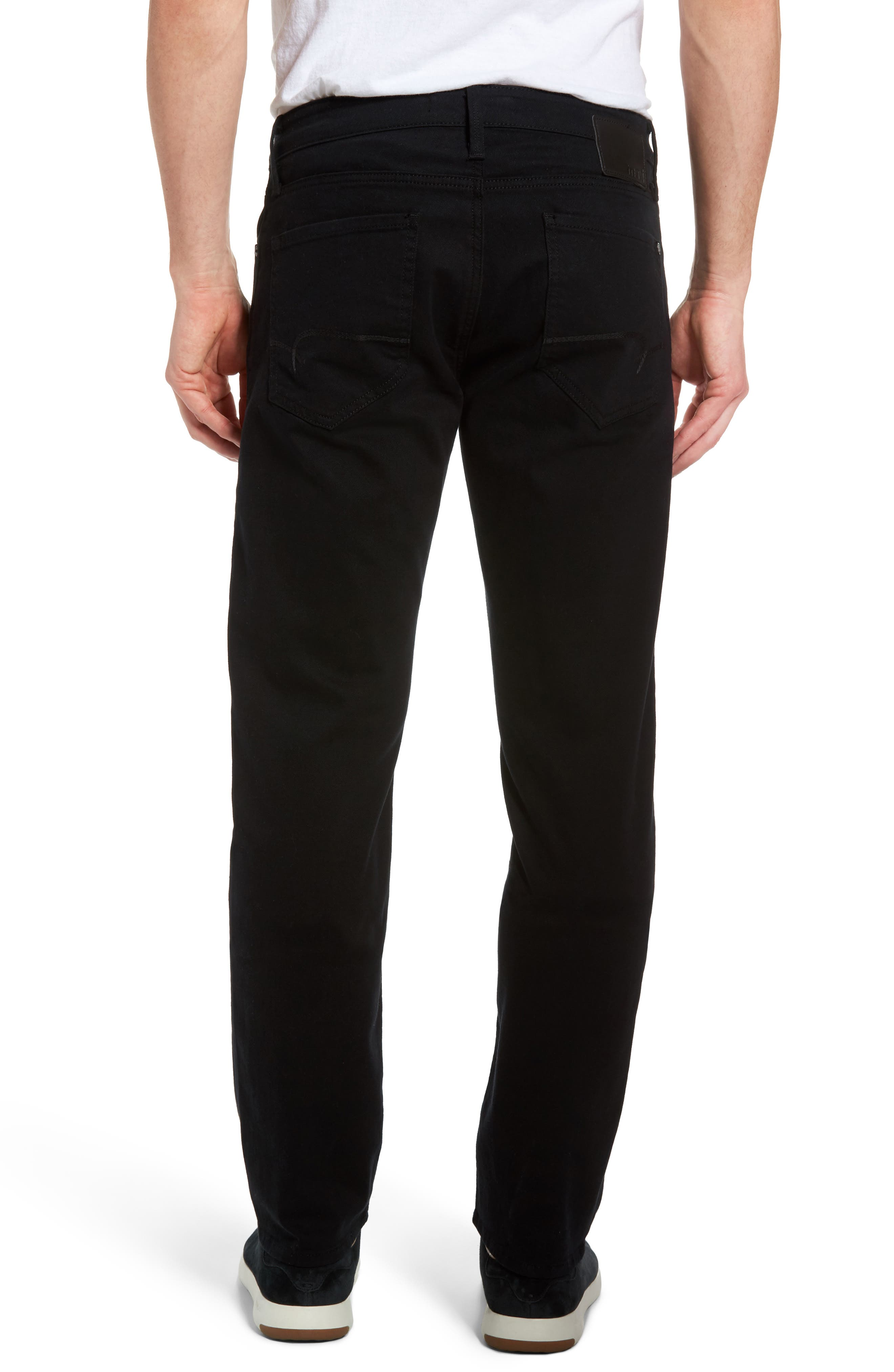 Alternate Image 2  - Mavi Jeans Zach Straight Leg Jeans (Black Williamsburg)