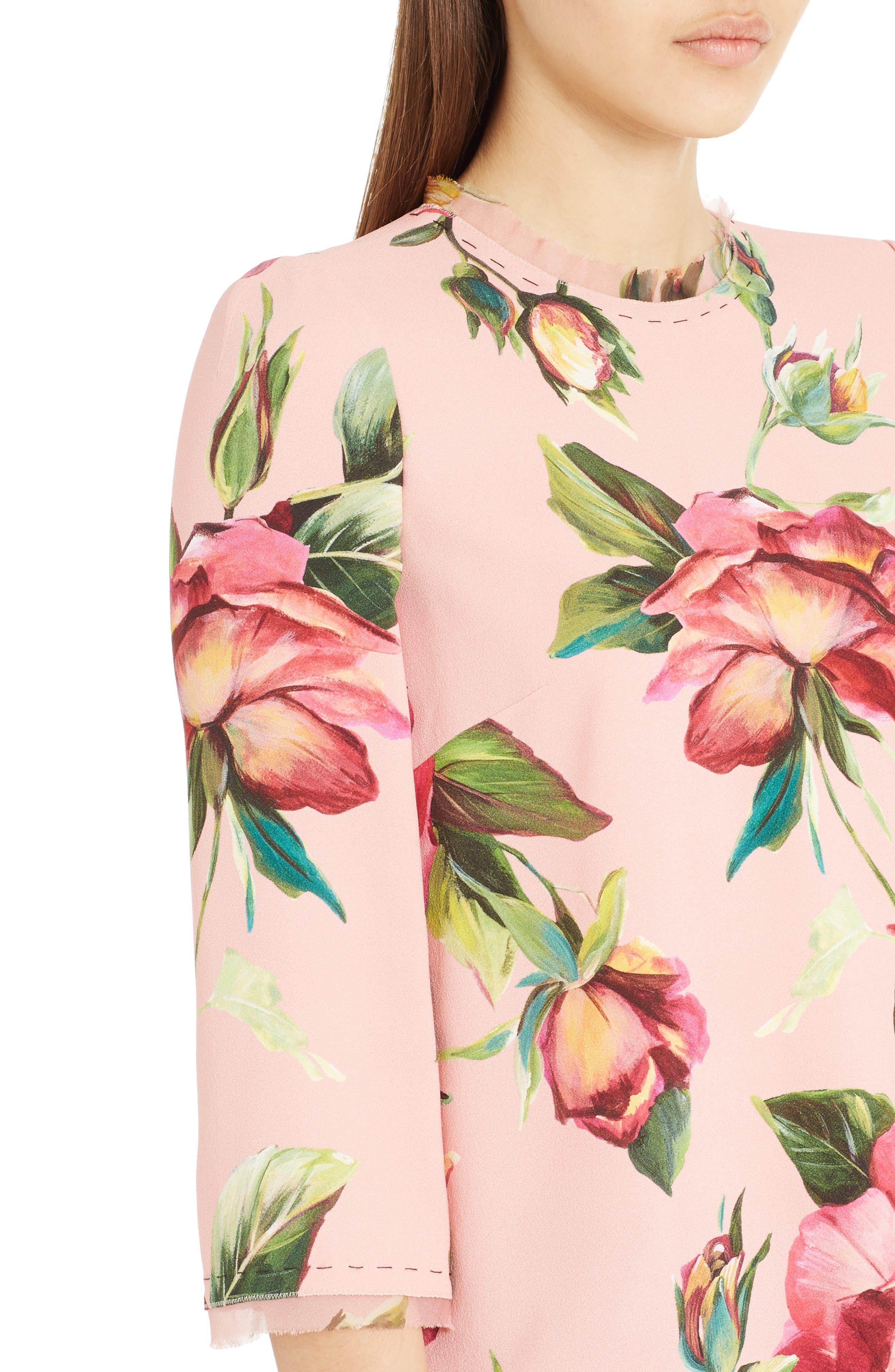 Alternate Image 5  - Dolce&Gabbana Rose Print Cady Blouse