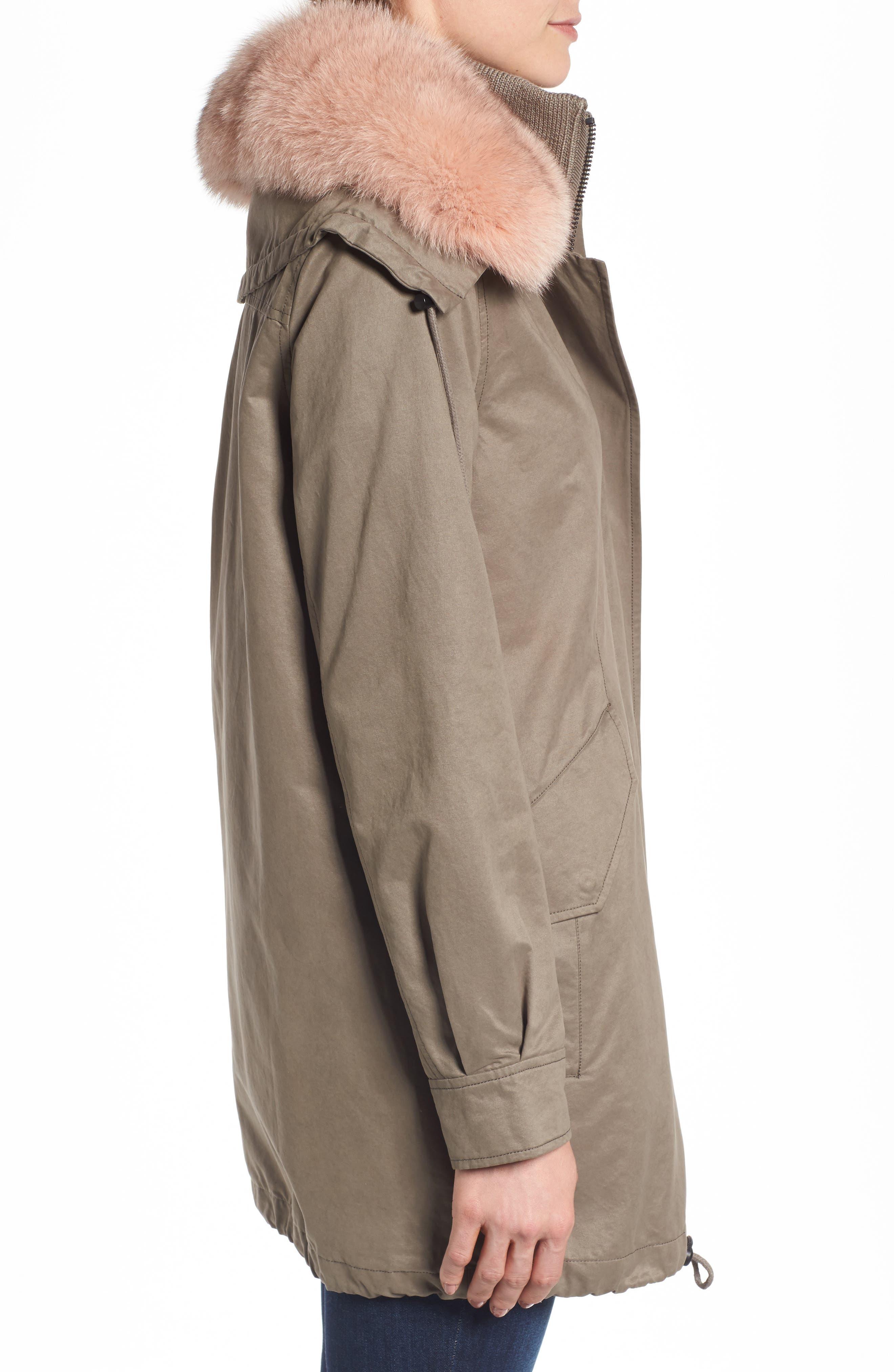 Alternate Image 3  - Derek Lam 10 Crosby Parka with Genuine Fox Fur Trim