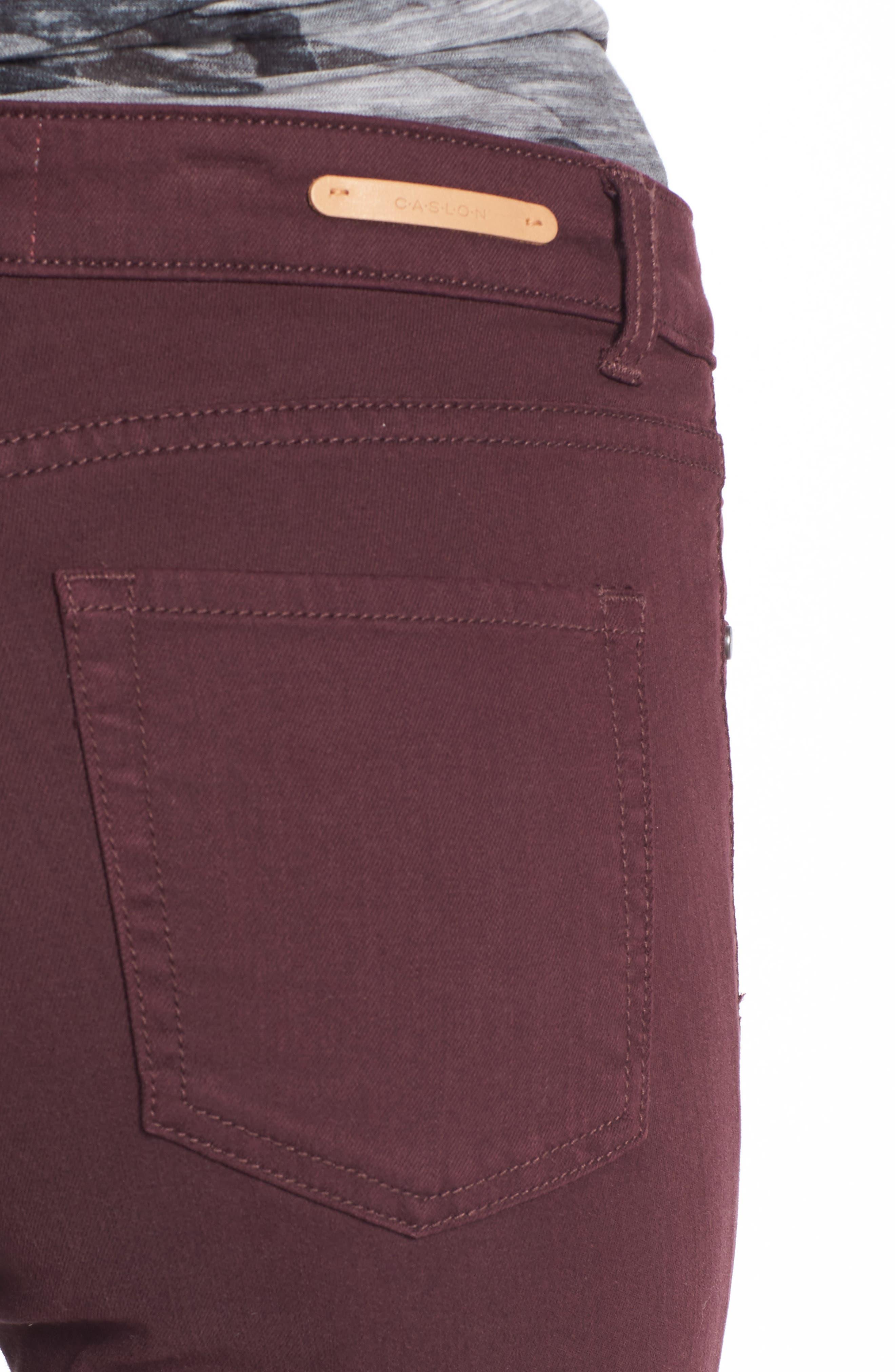 Alternate Image 4  - Caslon® Frayed Hem Skinny Ankle Jeans (Regular & Petite)