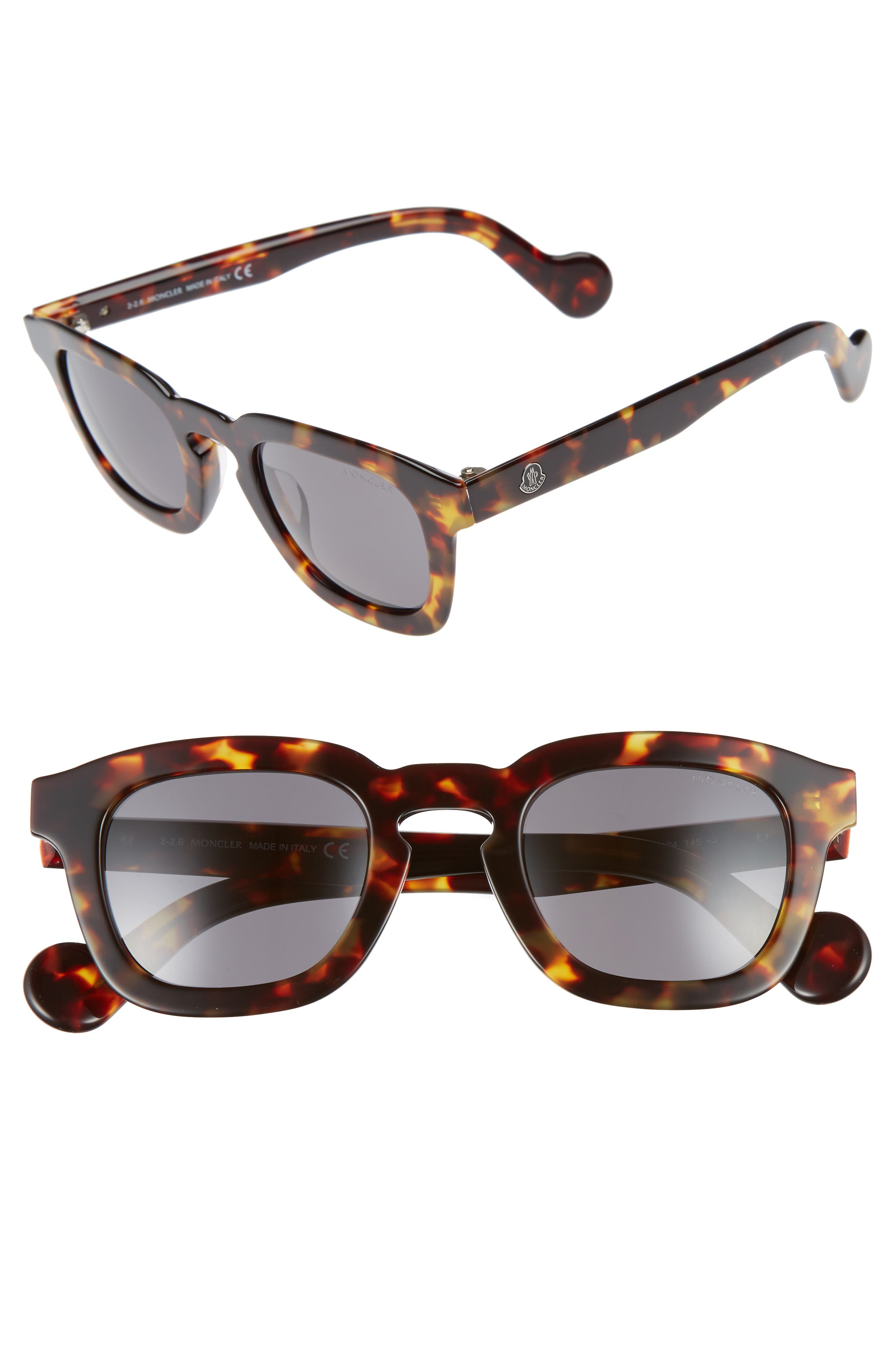 47mm Sunglasses,                             Main thumbnail 1, color,                             Dark Havana / Smoke