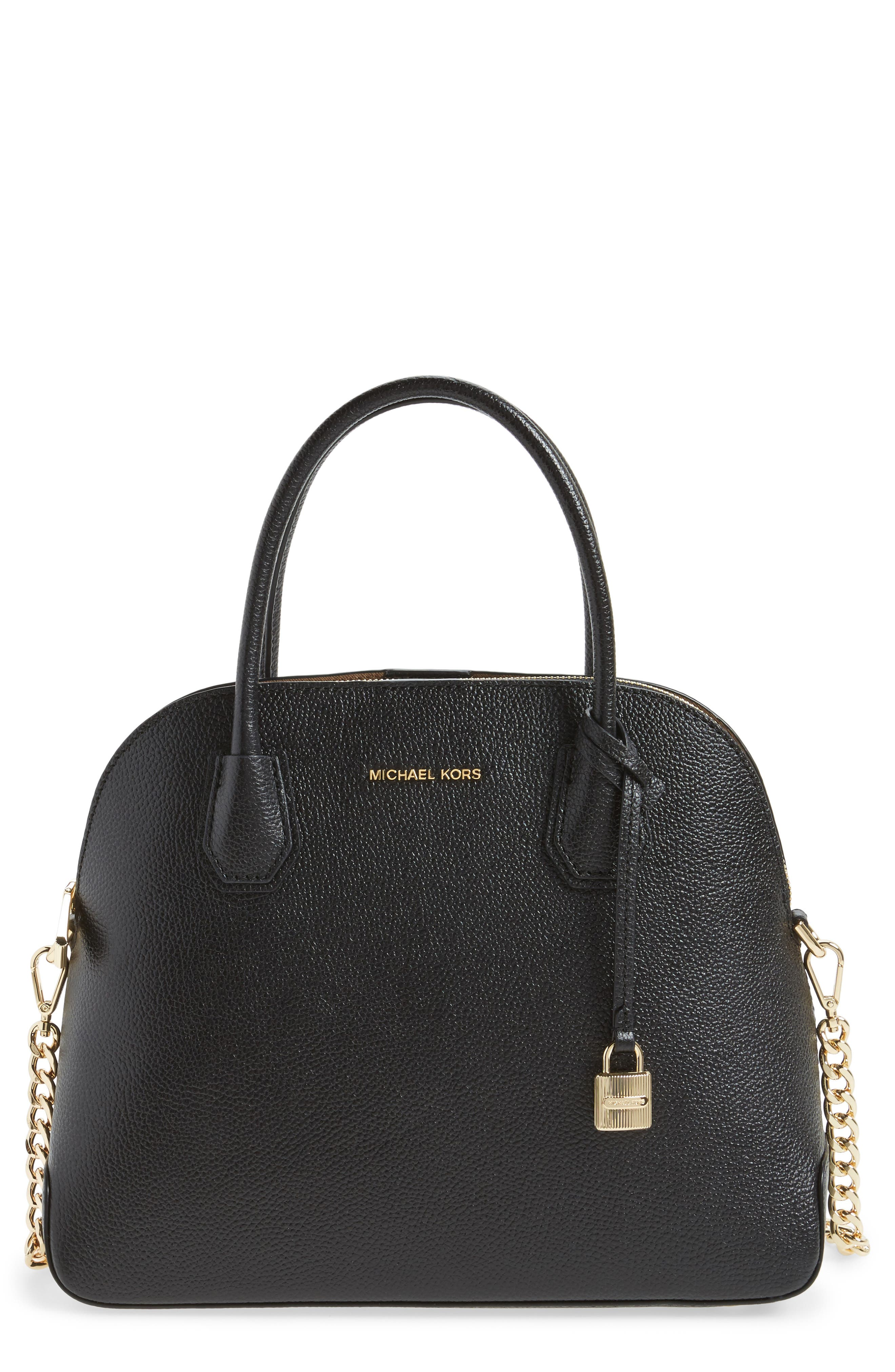 MICHAEL MICHAEL KORS MICHAEL by Michael Kors Large Mercer Leather Dome Satchel