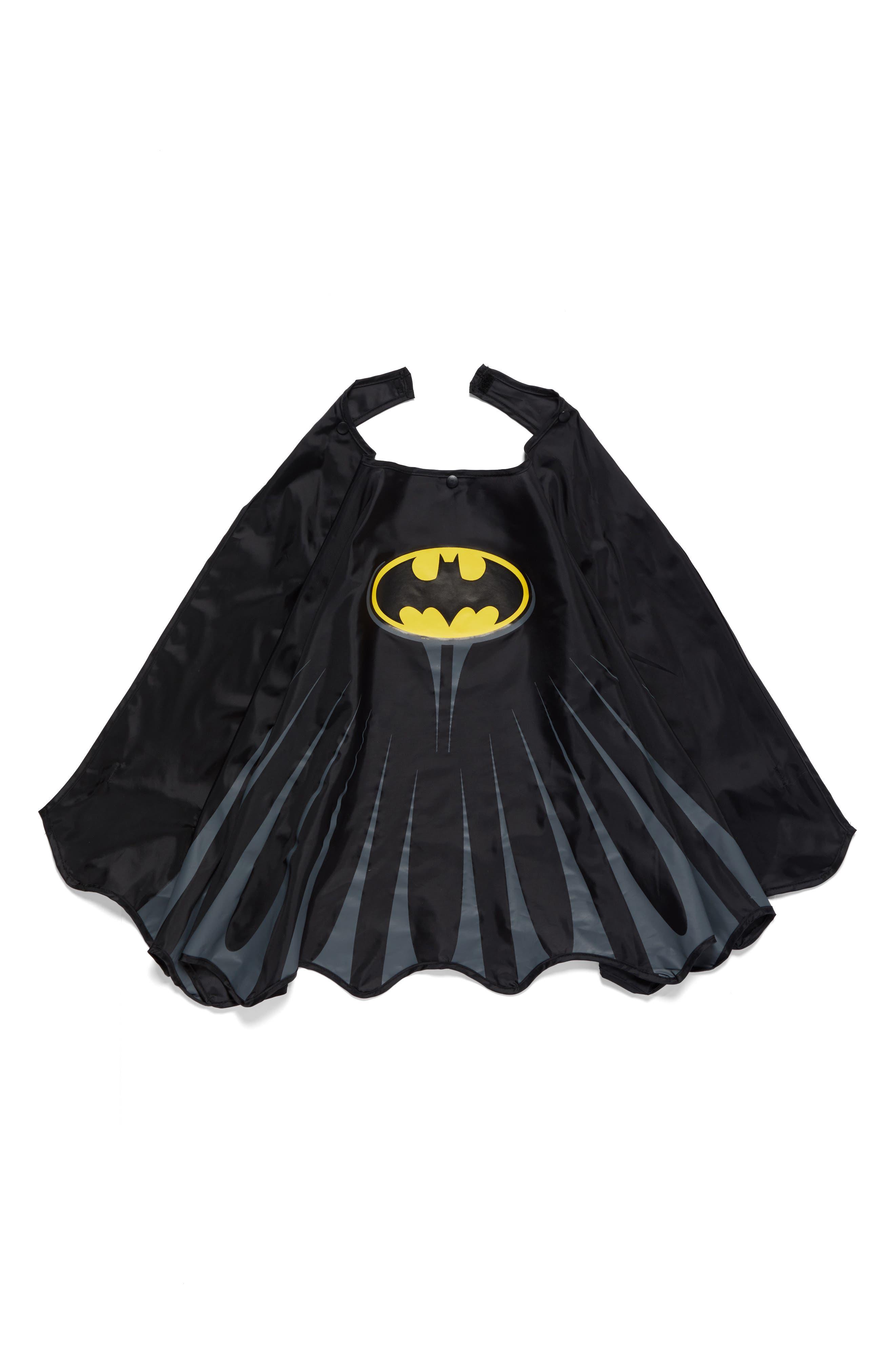 Batman Everlasting Hooded Raincoat,                             Alternate thumbnail 3, color,                             Black