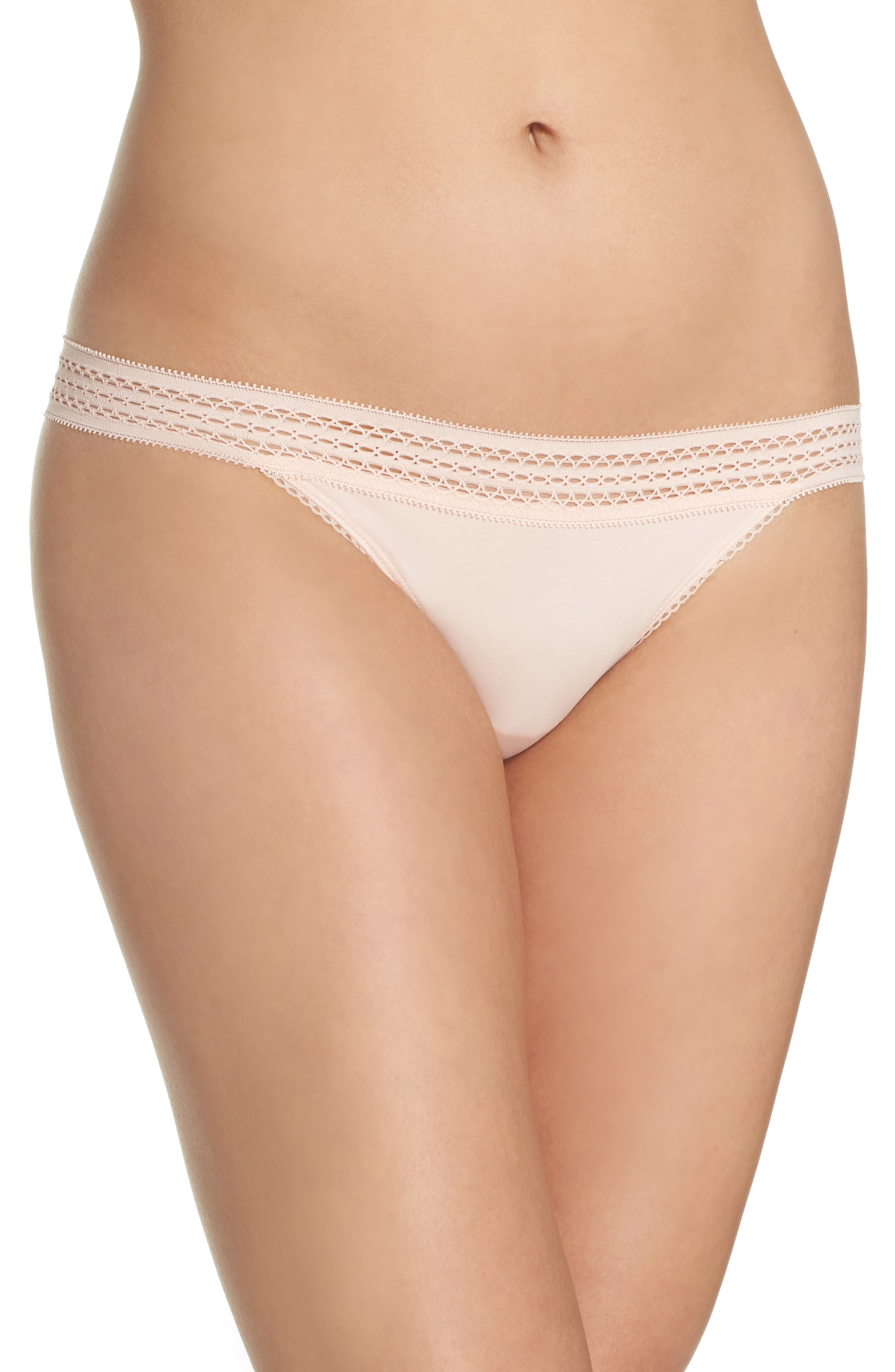 DKNY Lace Trim Thong