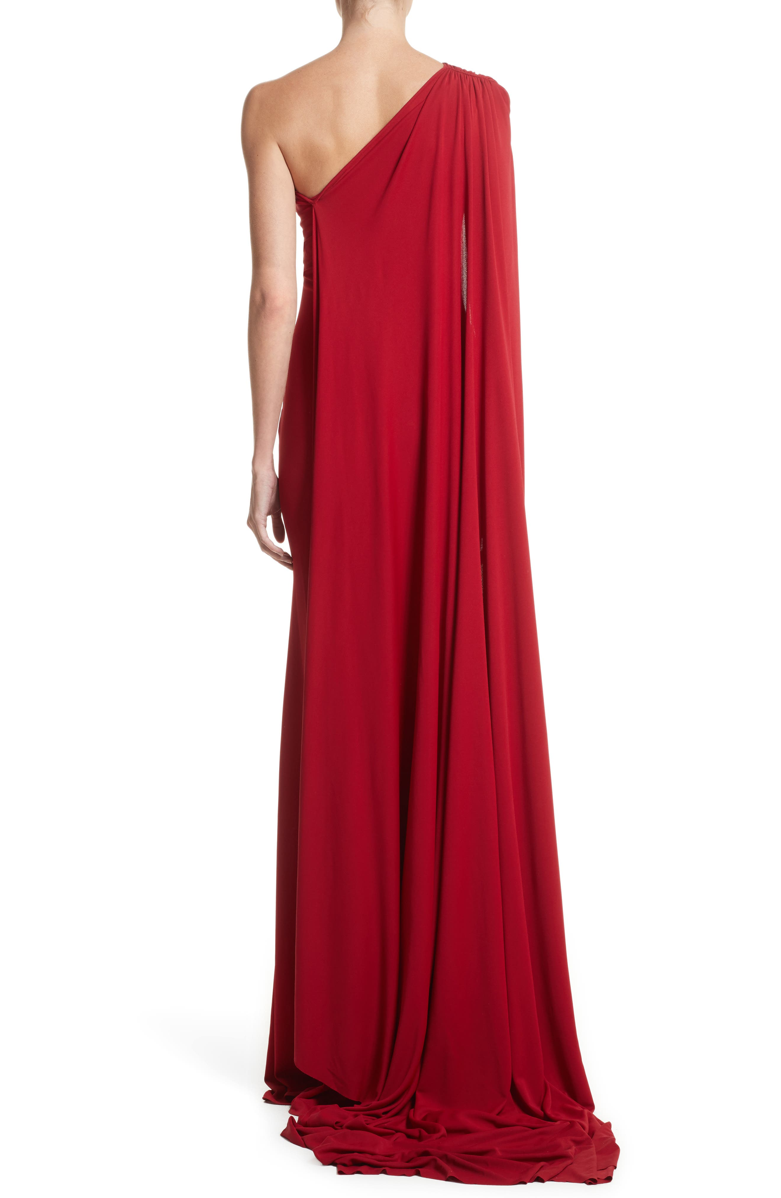 Alternate Image 2  - Naeem Khan One-Shoulder Stretch Jersey Gown