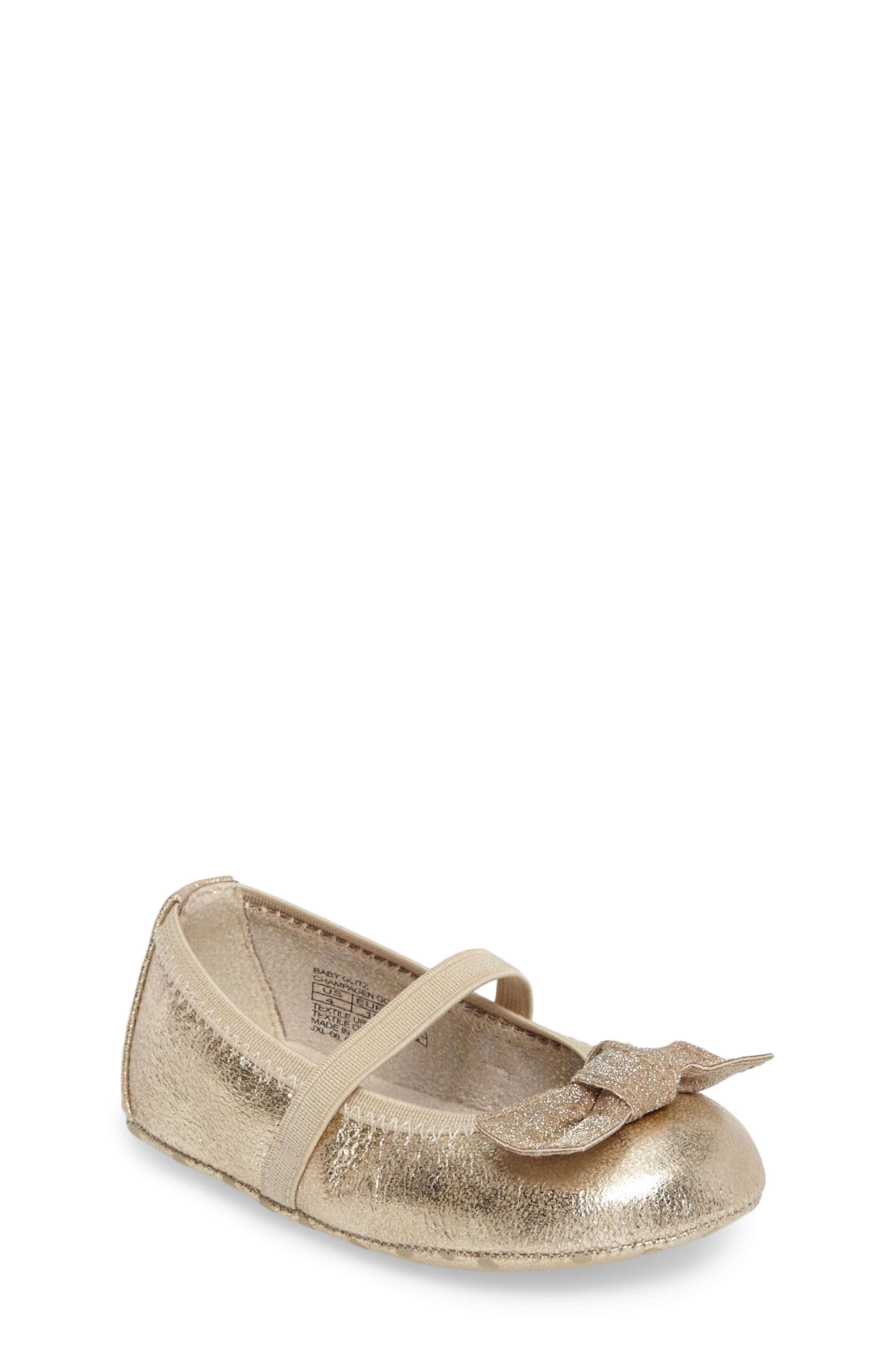 Fannie Glitz Mary Jane,                         Main,                         color, Champagne Gold Faux Leather