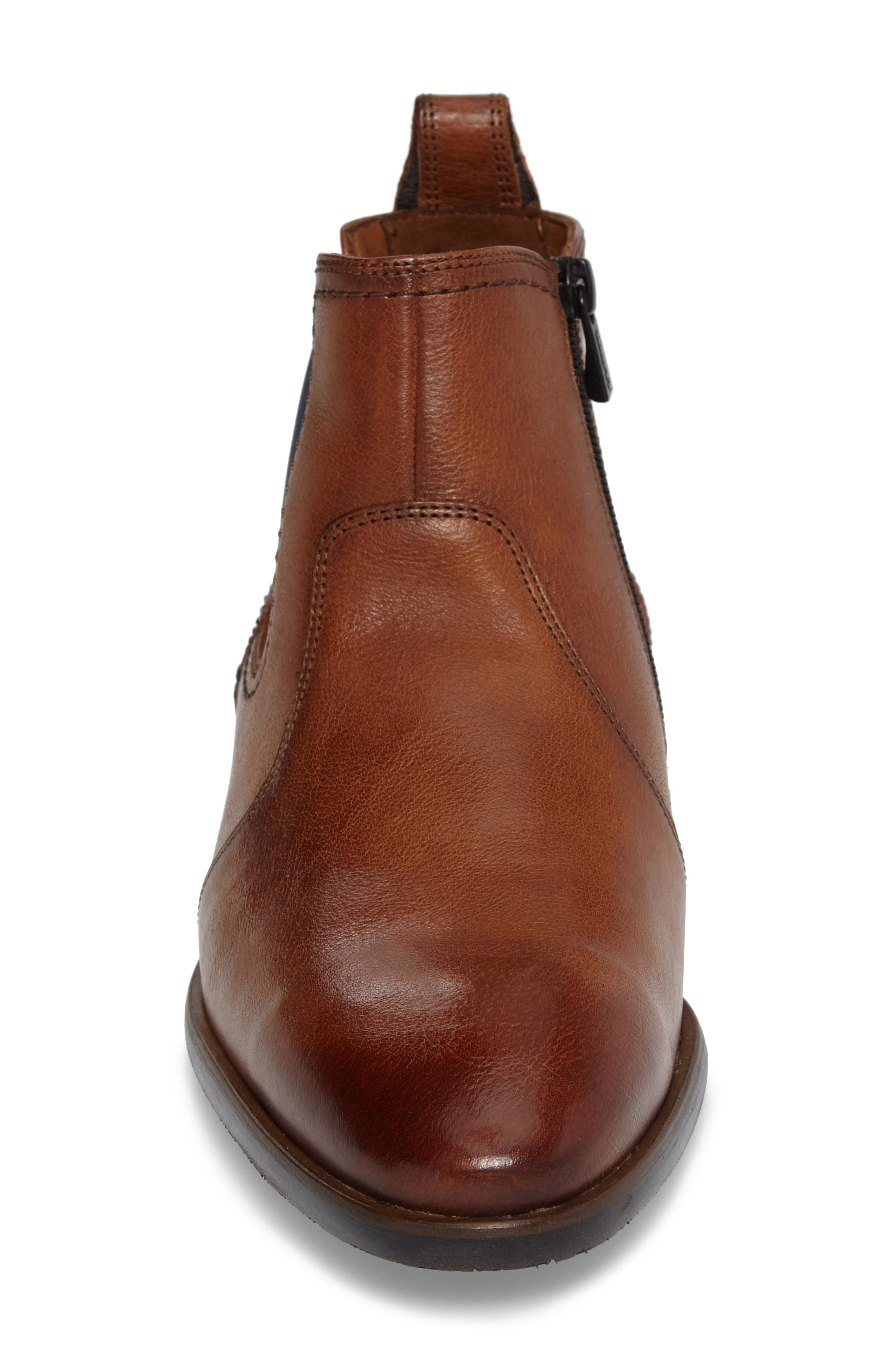 Dylan Chelsea Boot,                             Alternate thumbnail 4, color,                             Brown Leather