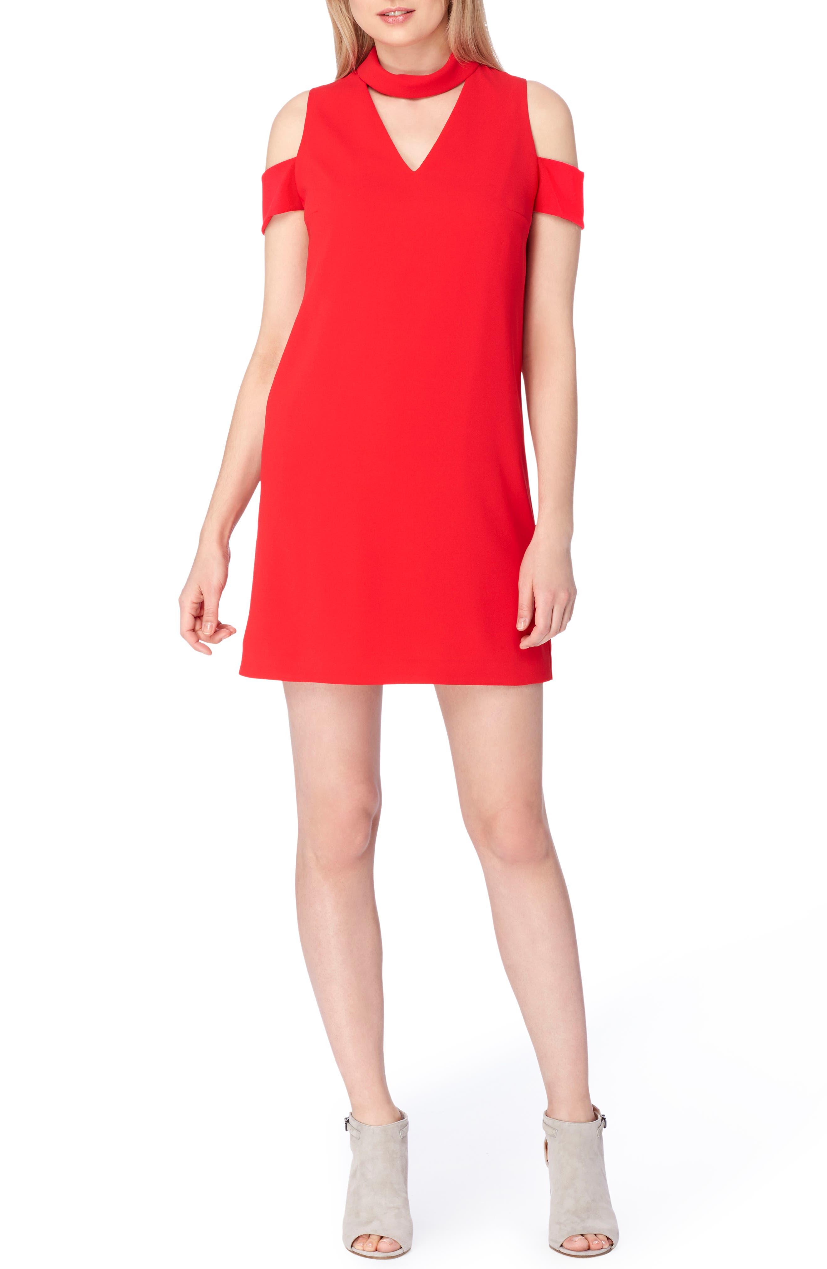 Tahari Mock Neck Dress