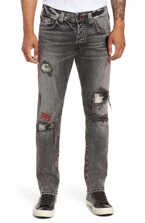 True Religion Brand Jeans Rocco Skinny Fit Jeans (Stone Relic) - Men's Skinny Jeans, Relaxed, Bootcut Fit & Selvedge Denim