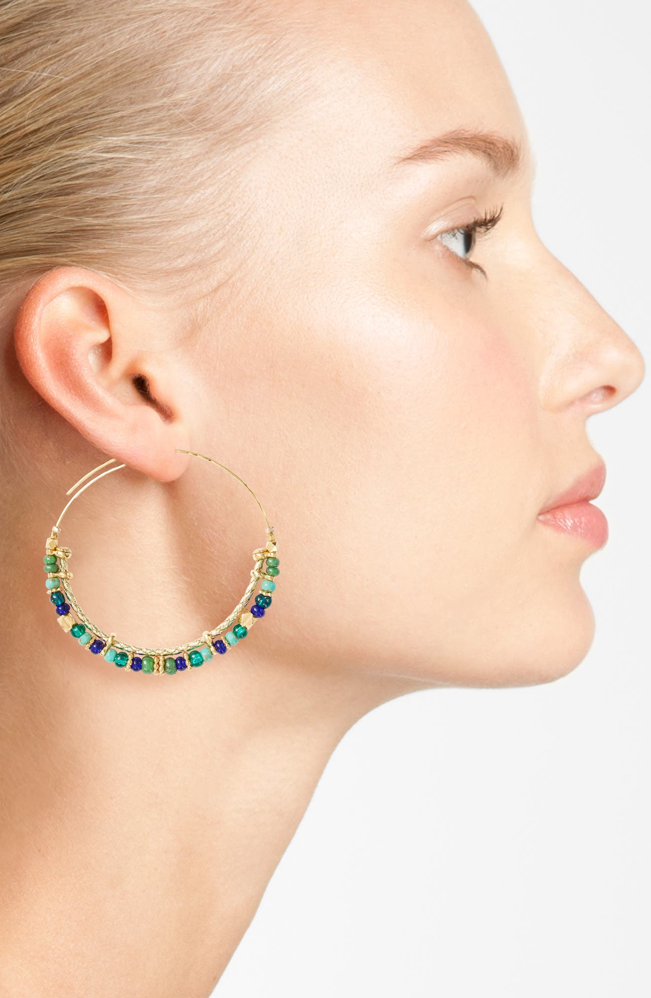 Alternate Image 2  - Gas Bijoux Comedia Hoop Earrings