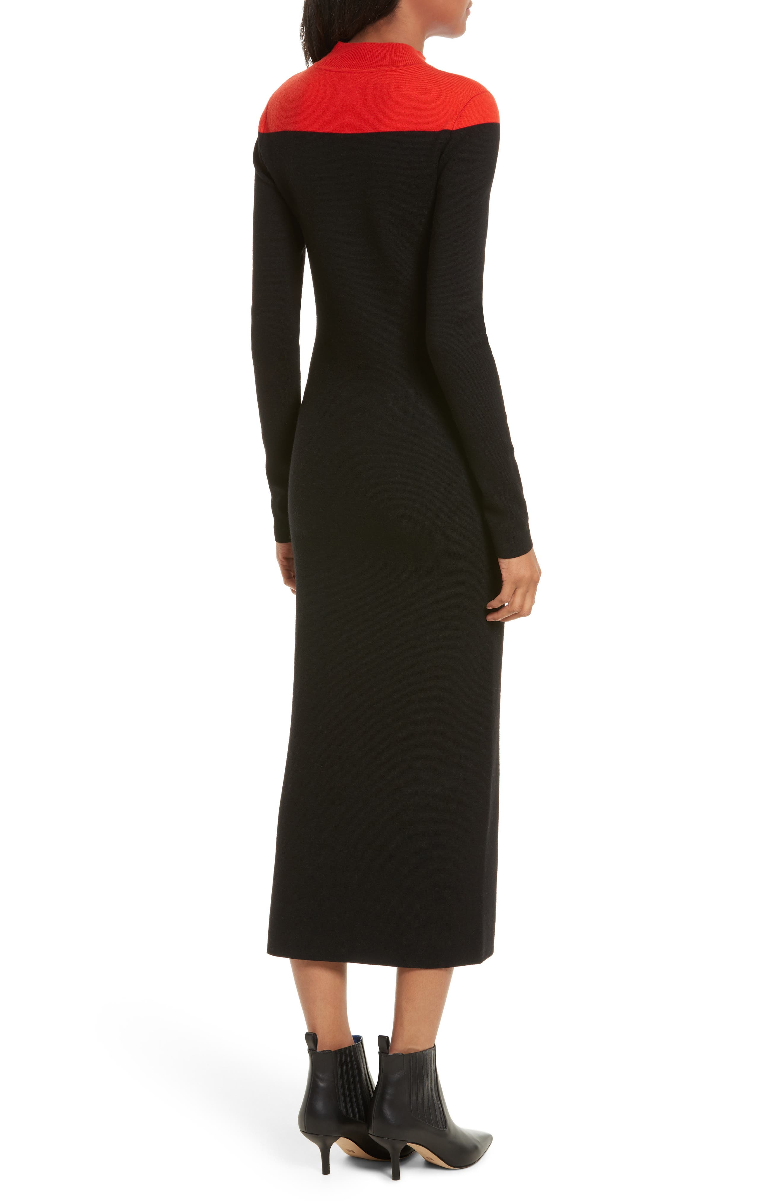 Alternate Image 2  - Diane von Furstenberg Contrast Yoke Midi Dress