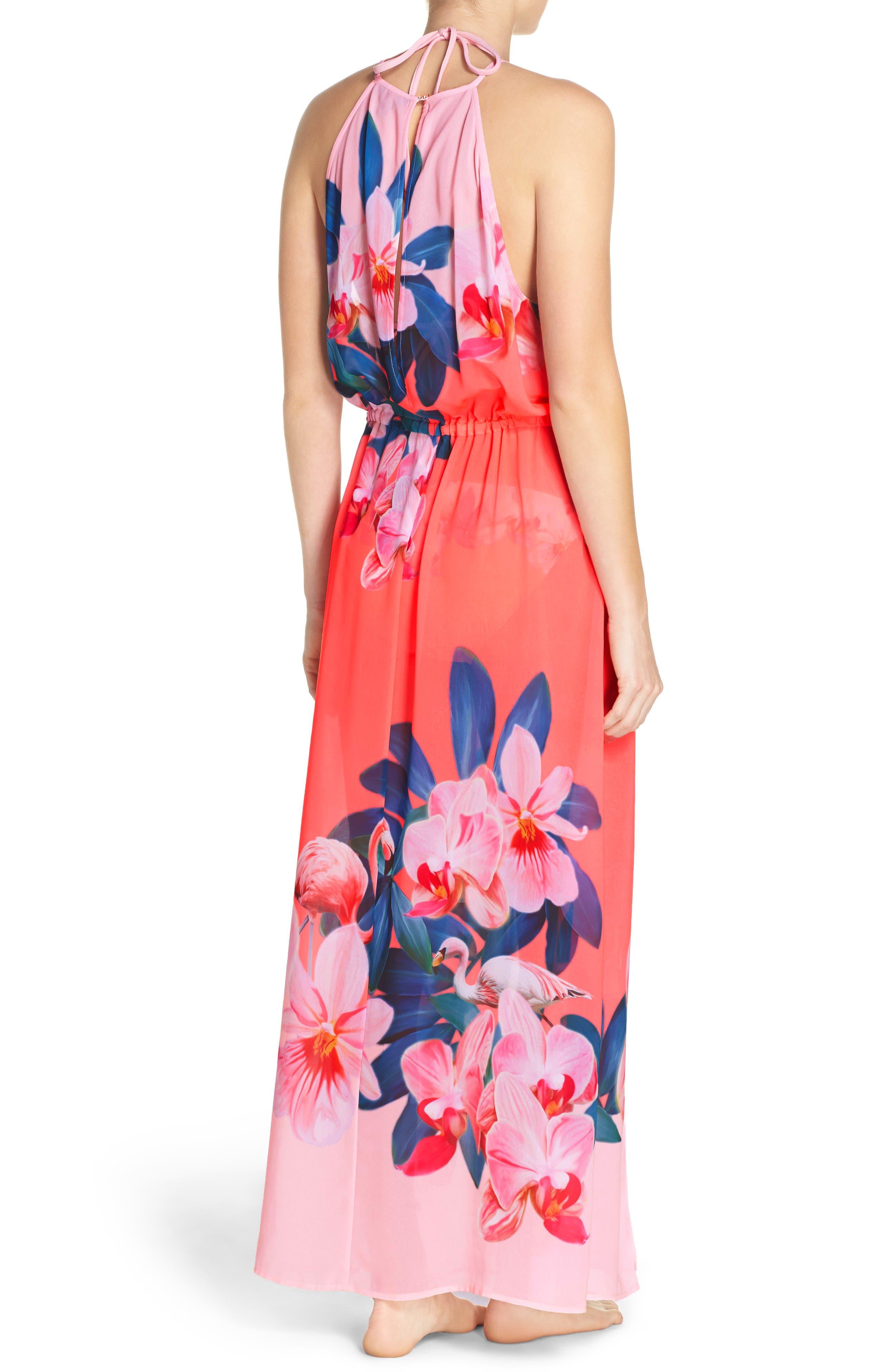 Alternate Image 2  - Ted Baker London Orchid Wonderland Cover-Up Maxi Dress
