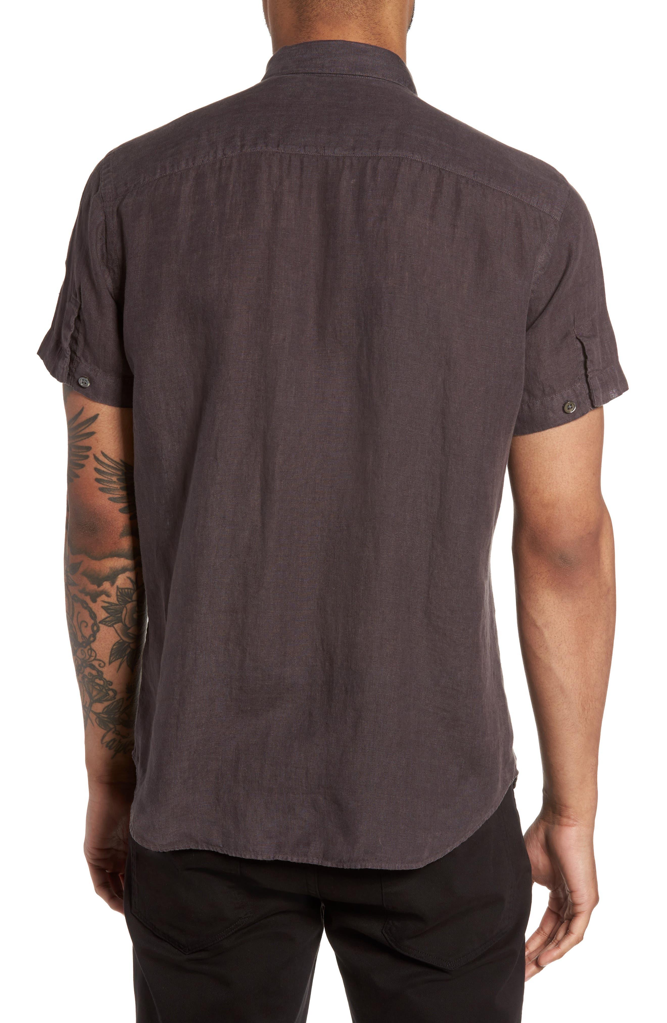 Alternate Image 2  - Theory Clark Trim Fit Linen Sport Shirt