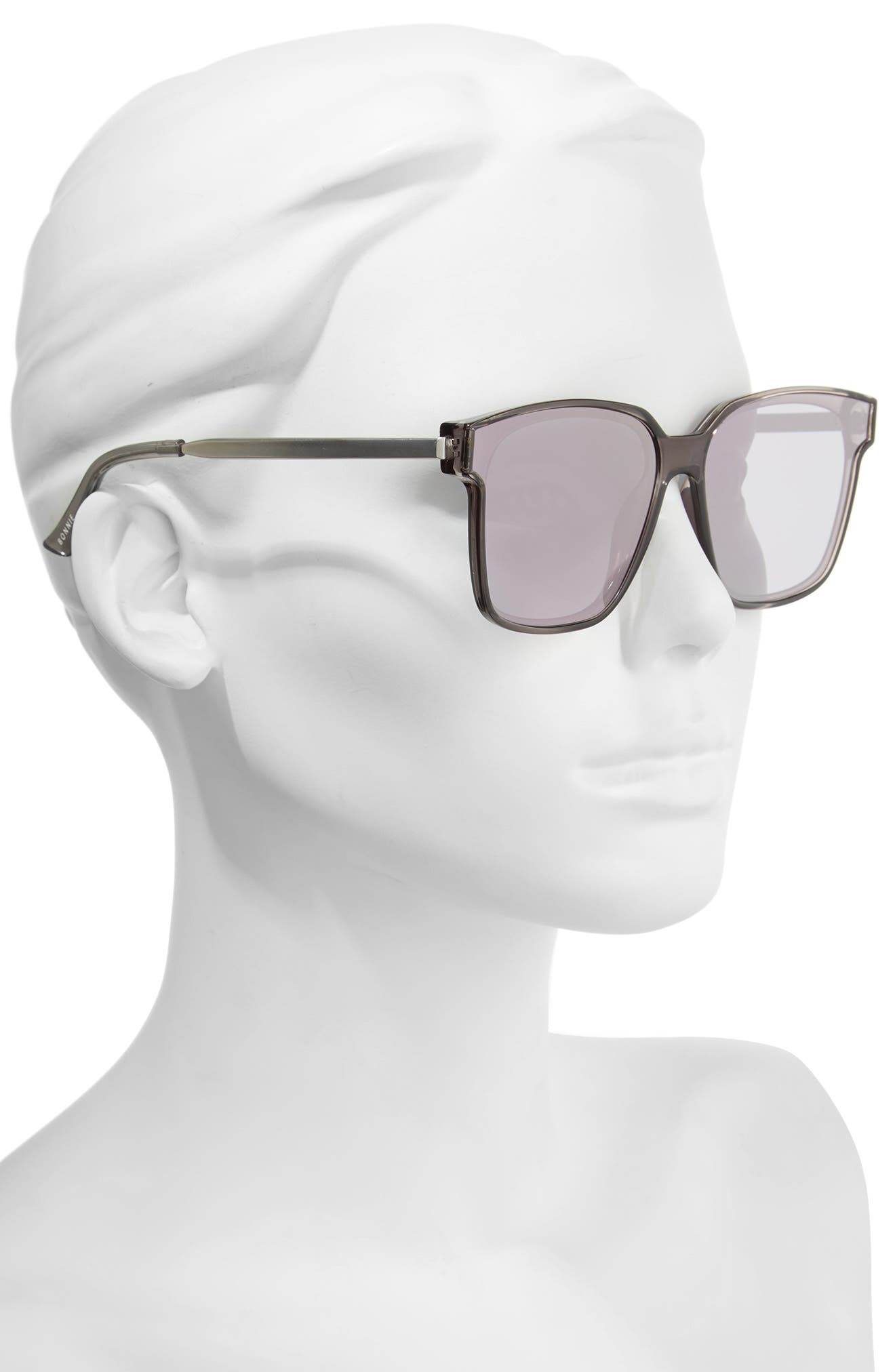 Alternate Image 2  - Bonnie Clyde Wall 62mm Square Mirror Lens Sunglasses
