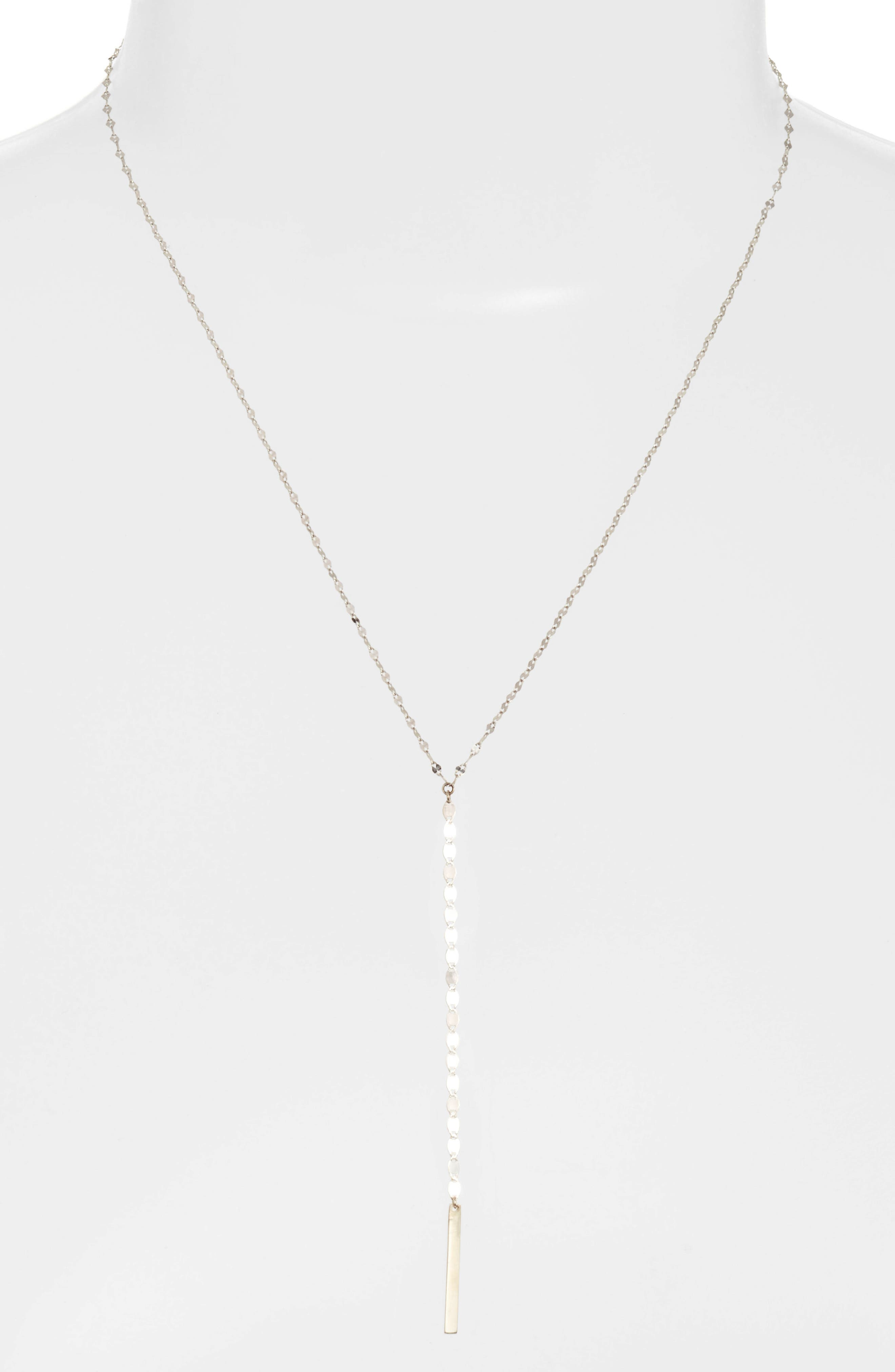 Nude Remix Bar Y-Necklace,                         Main,                         color, White Gold