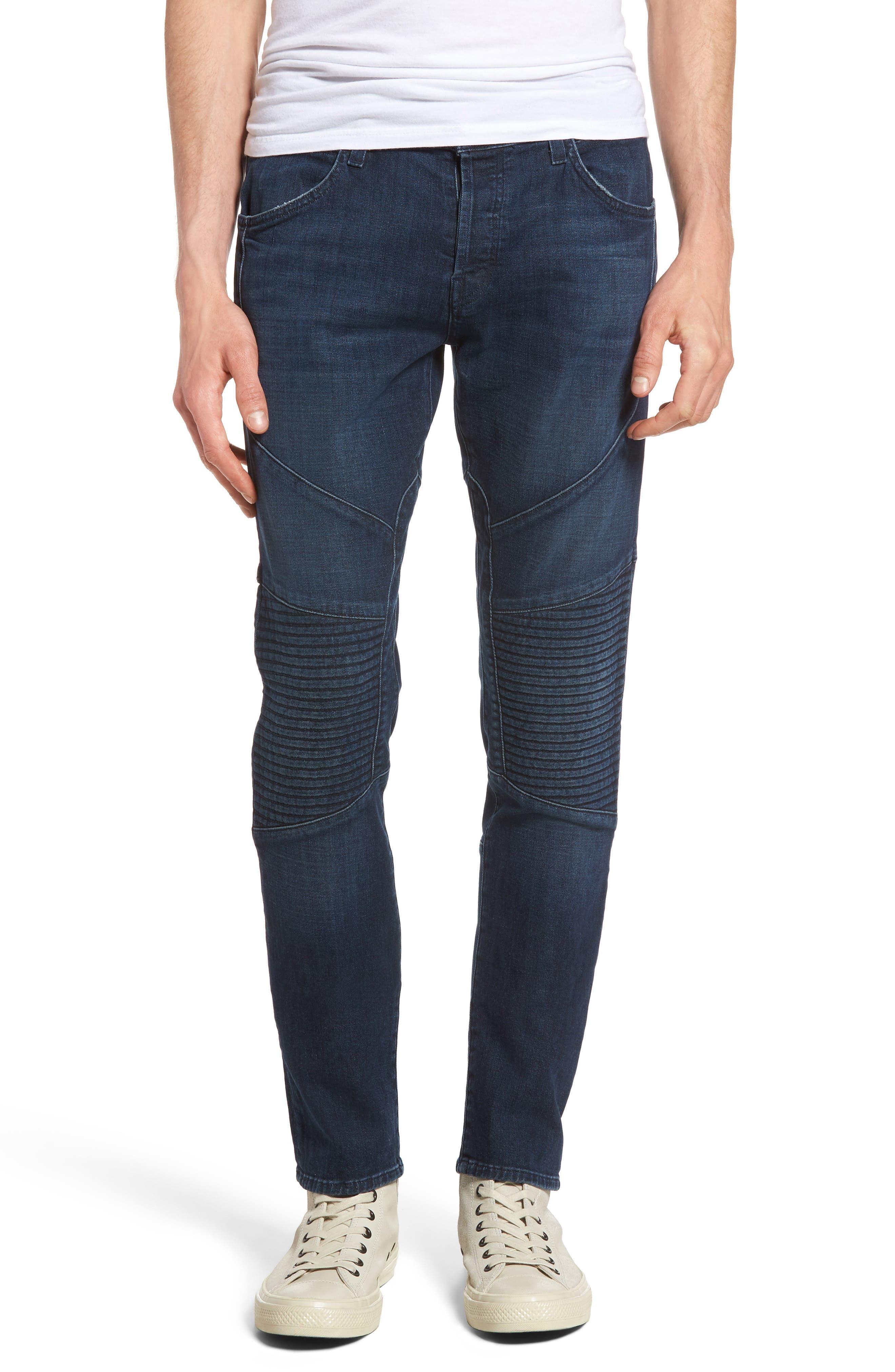 Main Image - J Brand Bearden Moto Skinny Fit Jeans (Bluvalis)