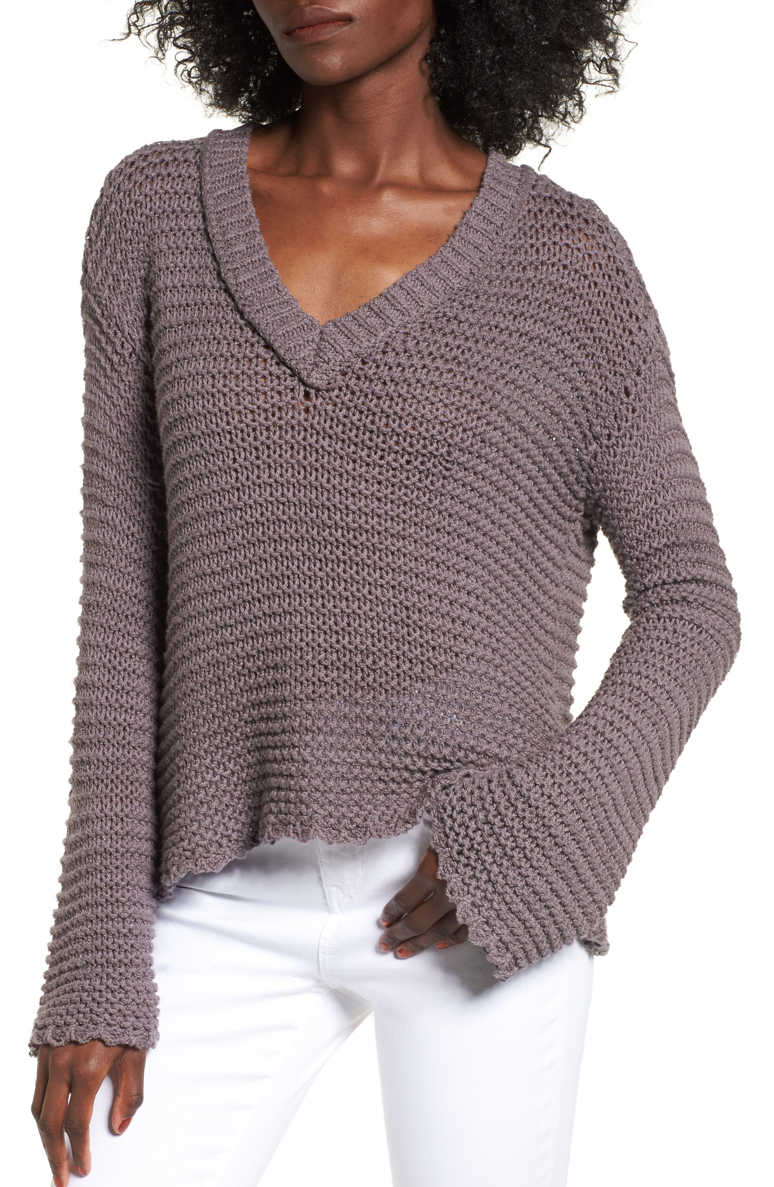 Hillary Sweater,                         Main,                         color, Rabbitt