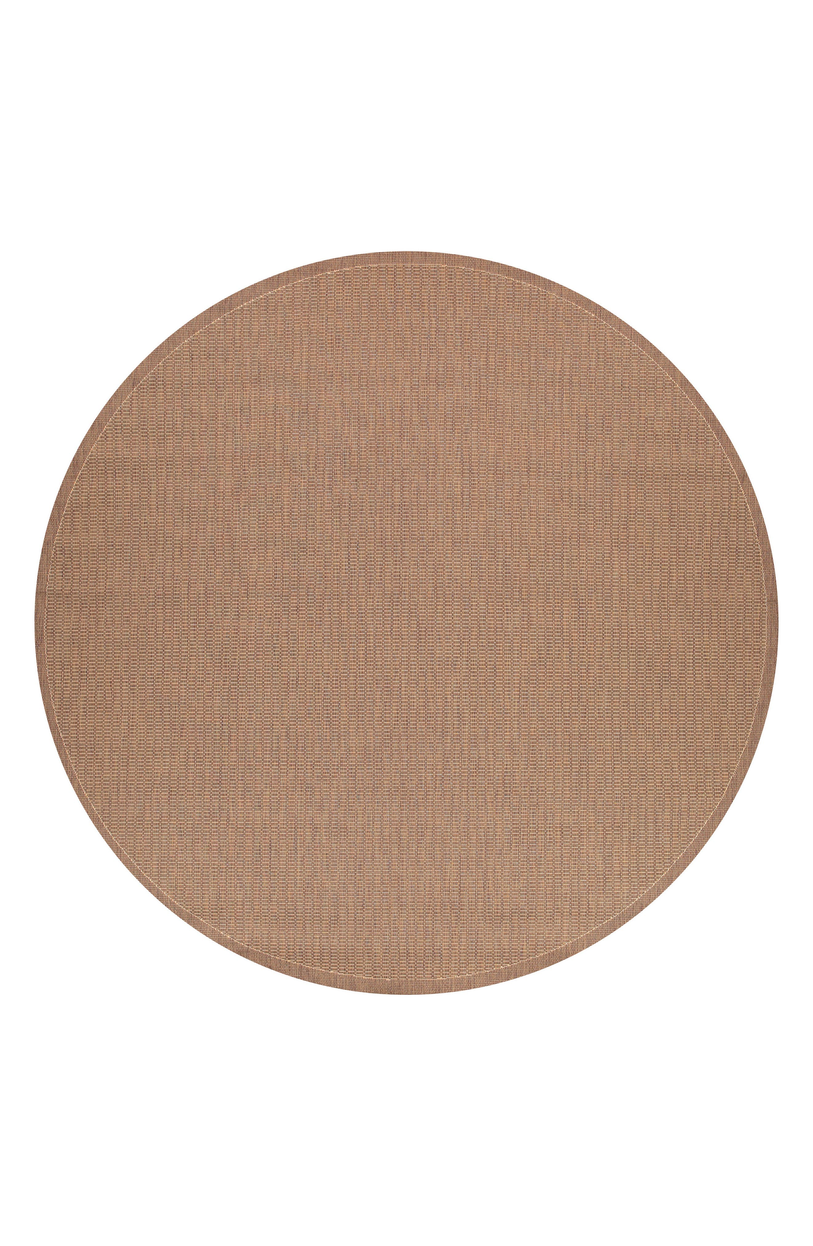 Saddle Stitch Indoor/Outdoor Rug,                             Main thumbnail 1, color,                             Cocoa/ Natural
