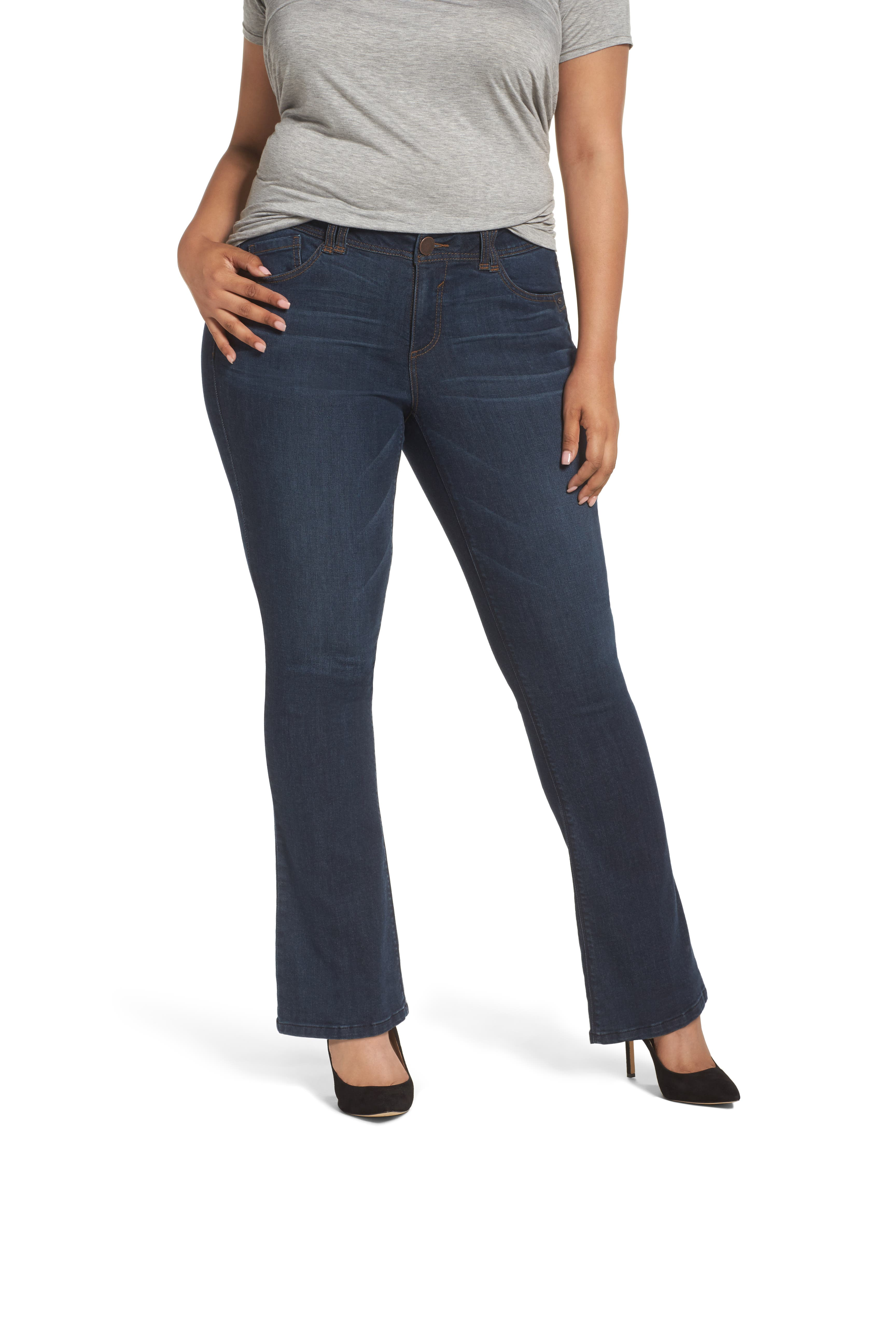 Main Image - Wit & Wisdom Ab-solution Itty Bitty Bootcut Jeans (Plus Size) (Nordstrom Exclusive)