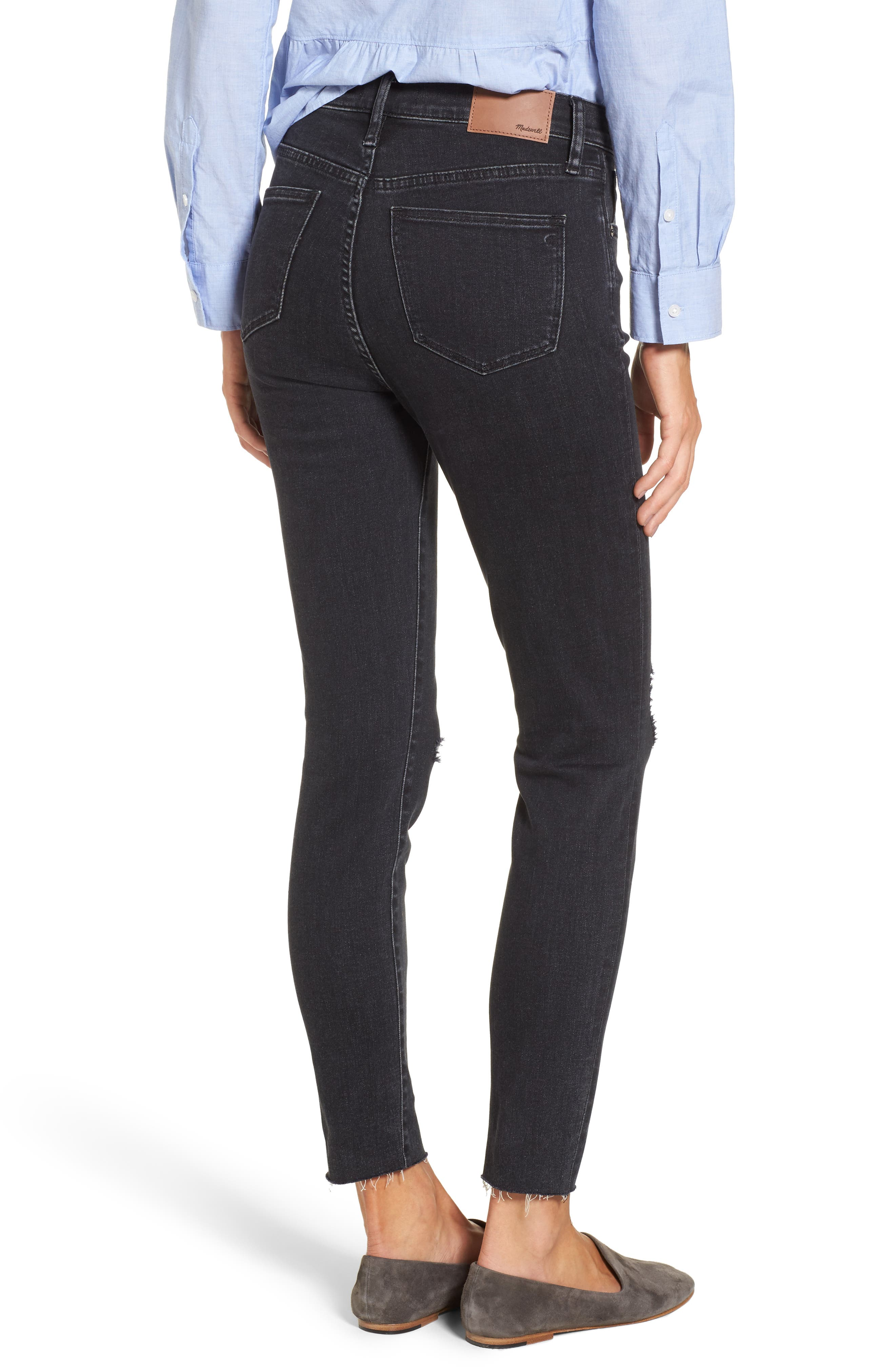 Alternate Image 3  - Madewell 9-Inch High Rise Ripped Skinny Jeans (Ruth)