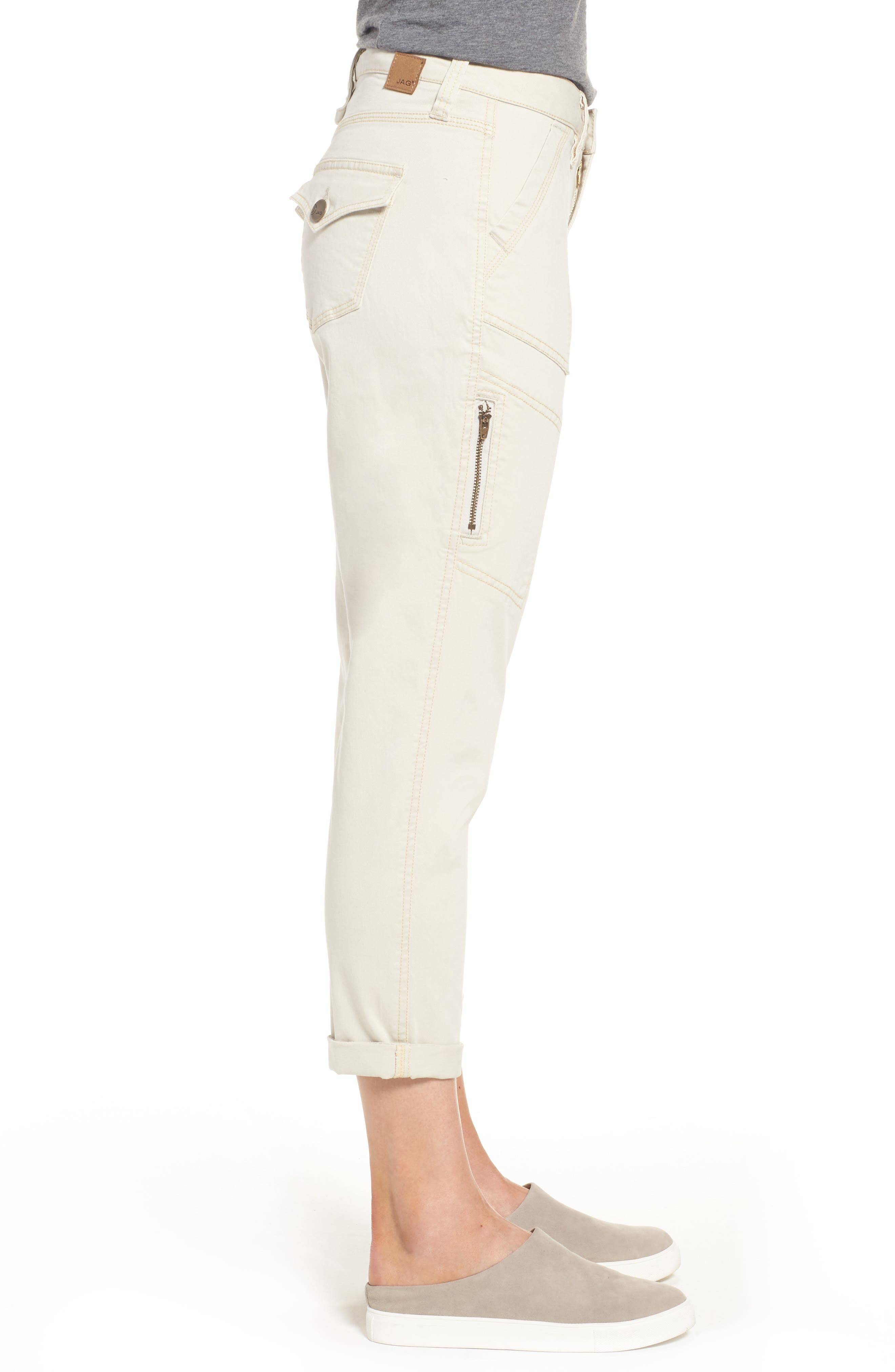 Gable Stretch Twill Utility Pants,                             Alternate thumbnail 3, color,                             Stone