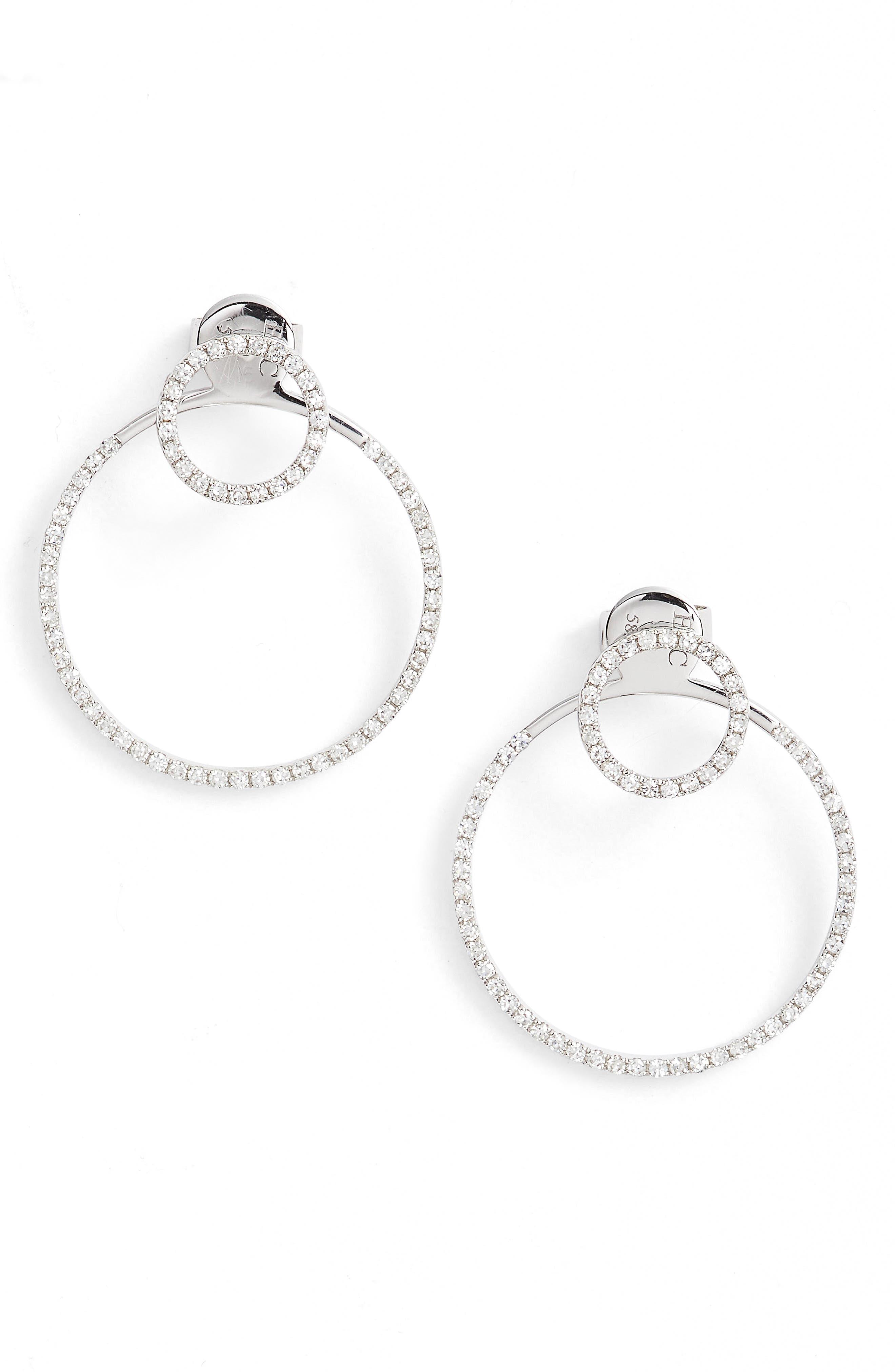 EF COLLECTION Diamond Halo Ear Jackets