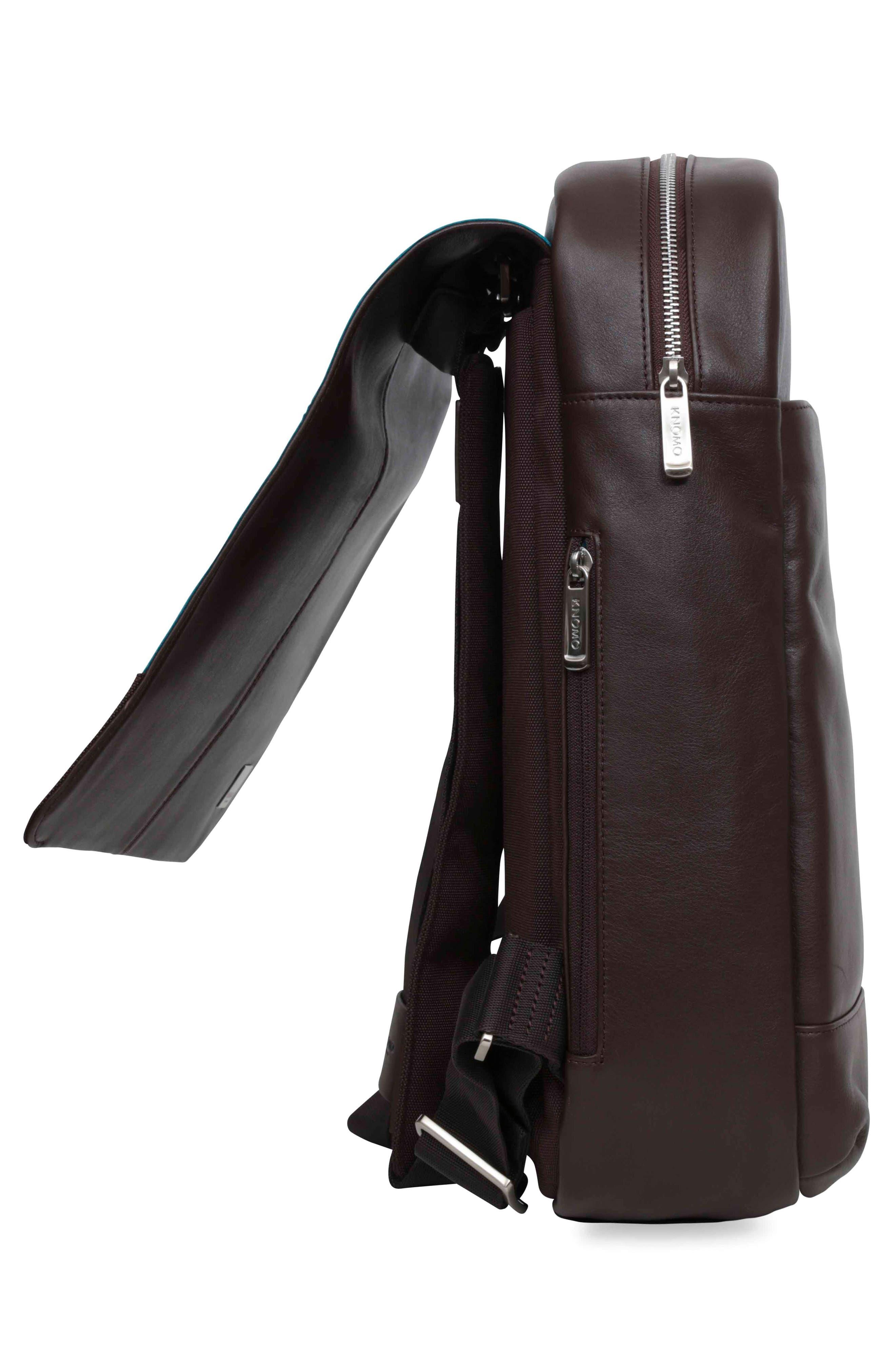 Alternate Image 6  - KNOMO London Brompton Hudson Leather Backpack