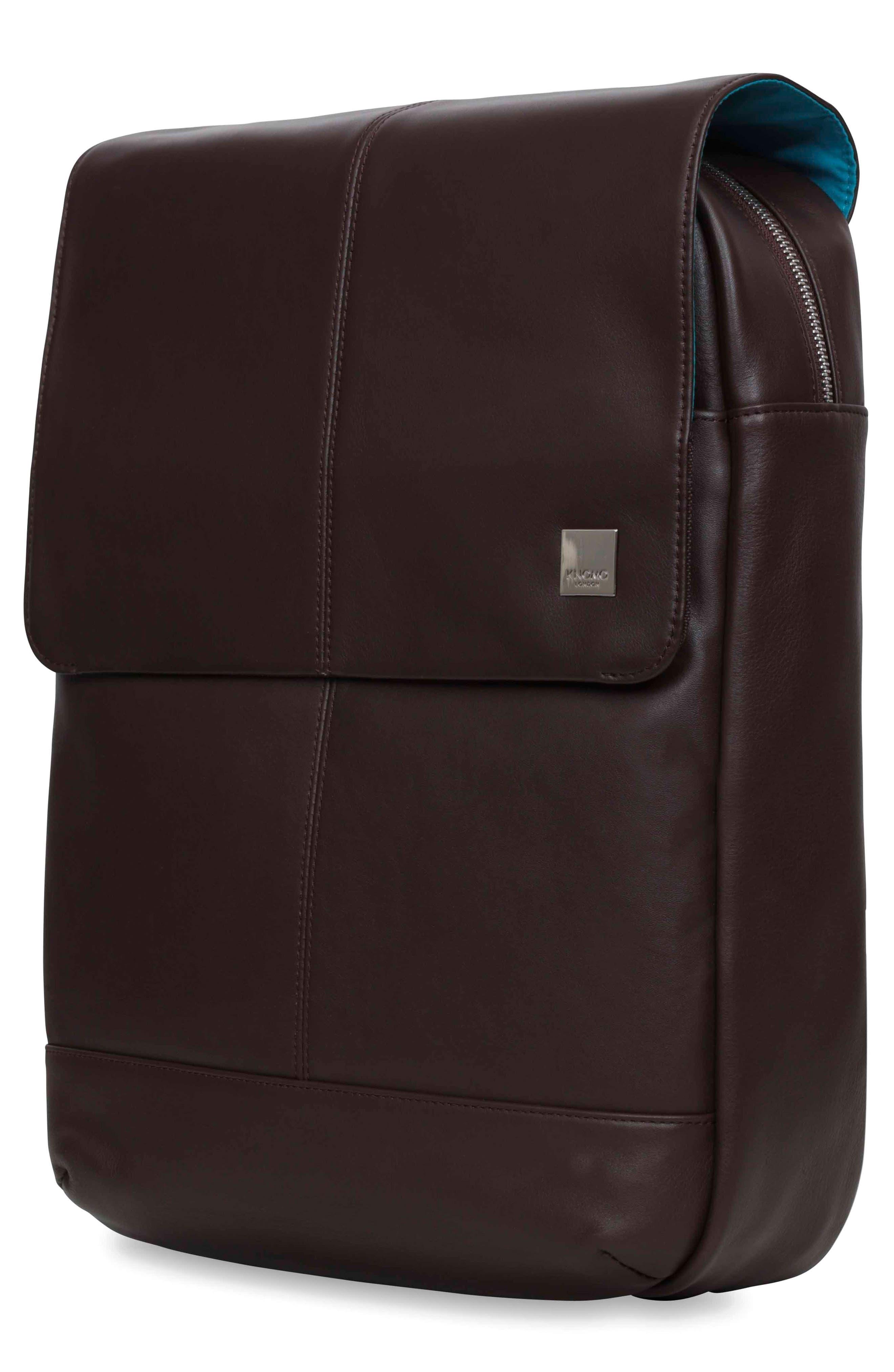 Alternate Image 7  - KNOMO London Brompton Hudson Leather Backpack