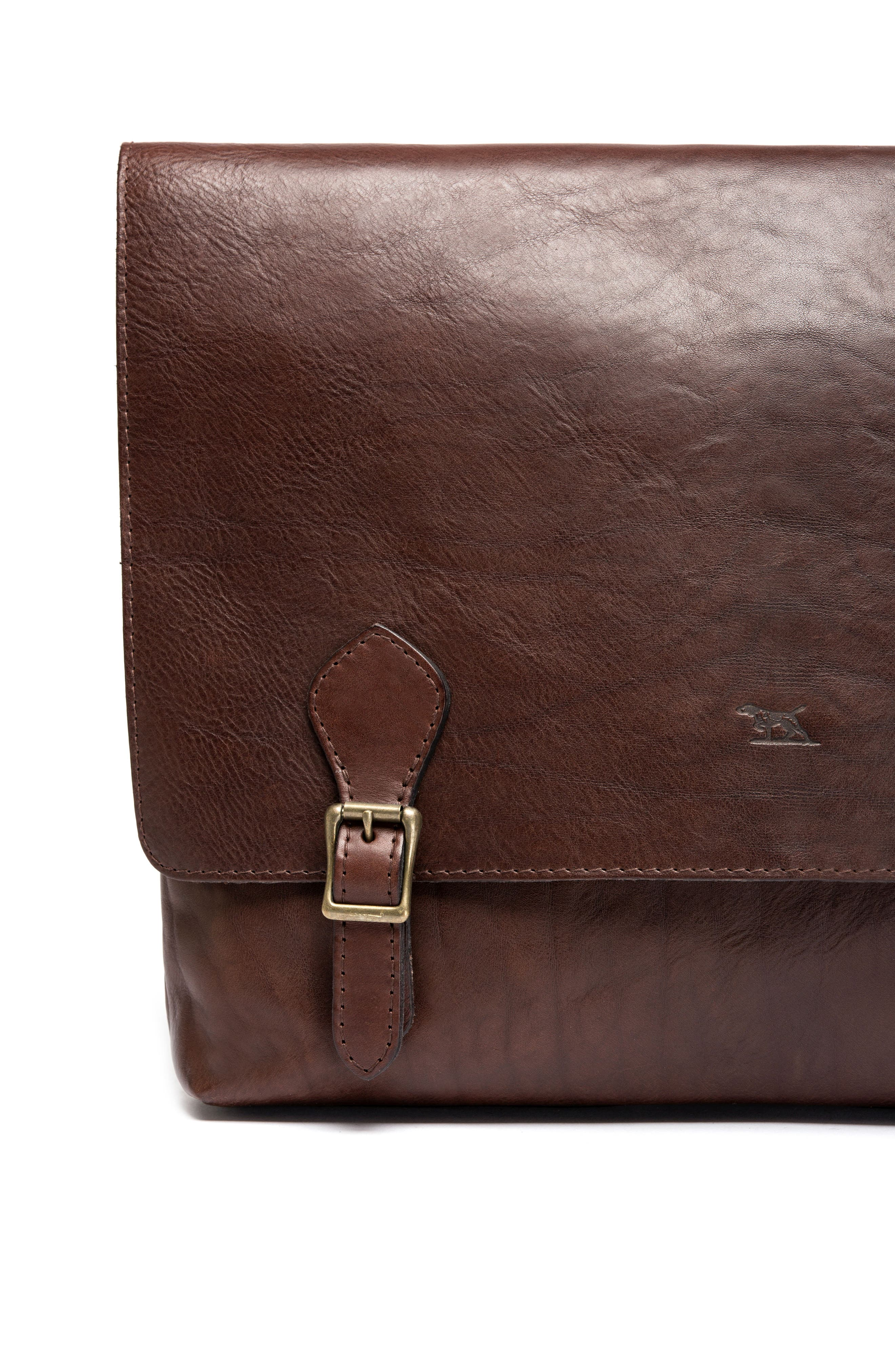 Woodstock Leather Satchel,                             Alternate thumbnail 7, color,                             Cocoa