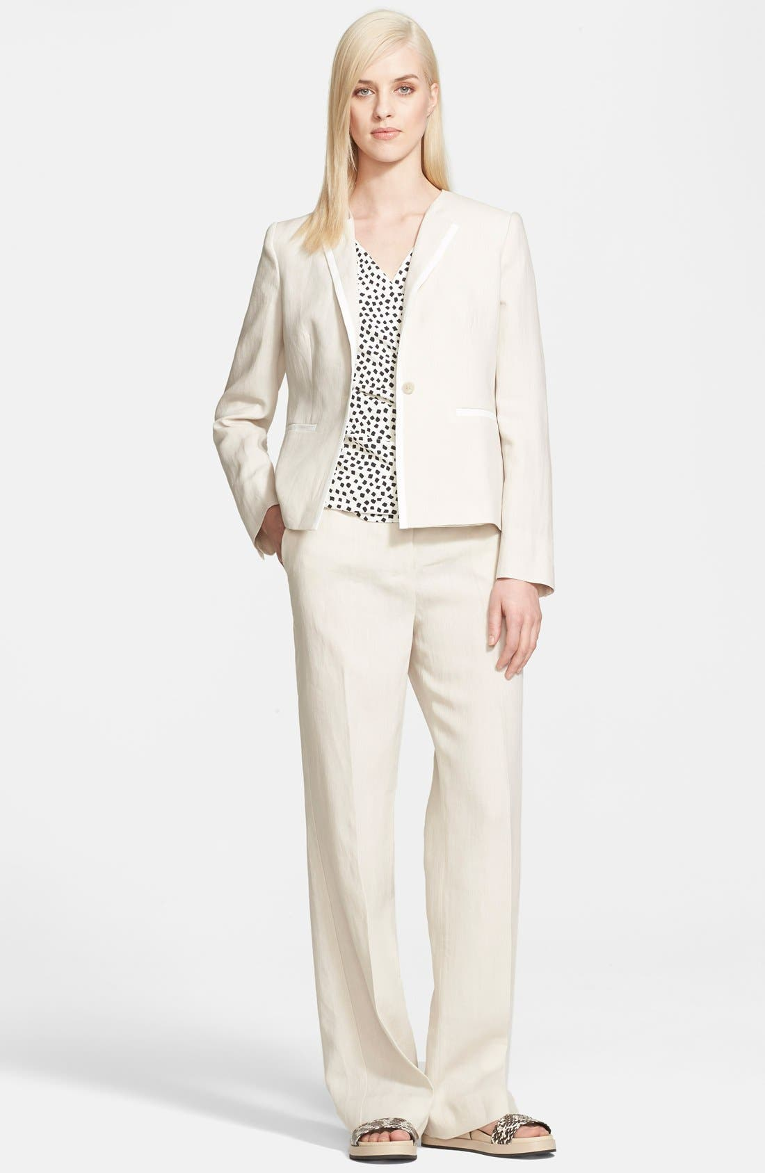 Alternate Image 3  - Max Mara 'Ghinea' One-Button Linen Jacket
