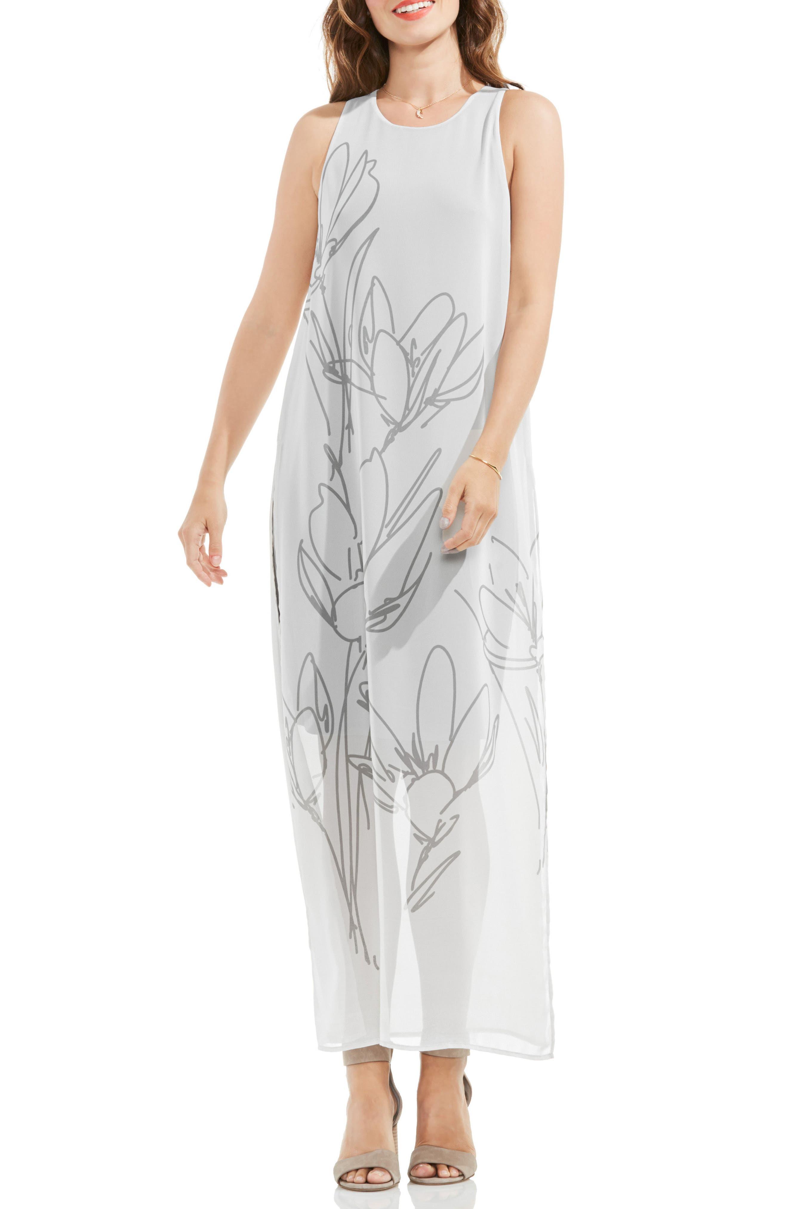 VINCE CAMUTO Fluent Cluster Maxi Dress