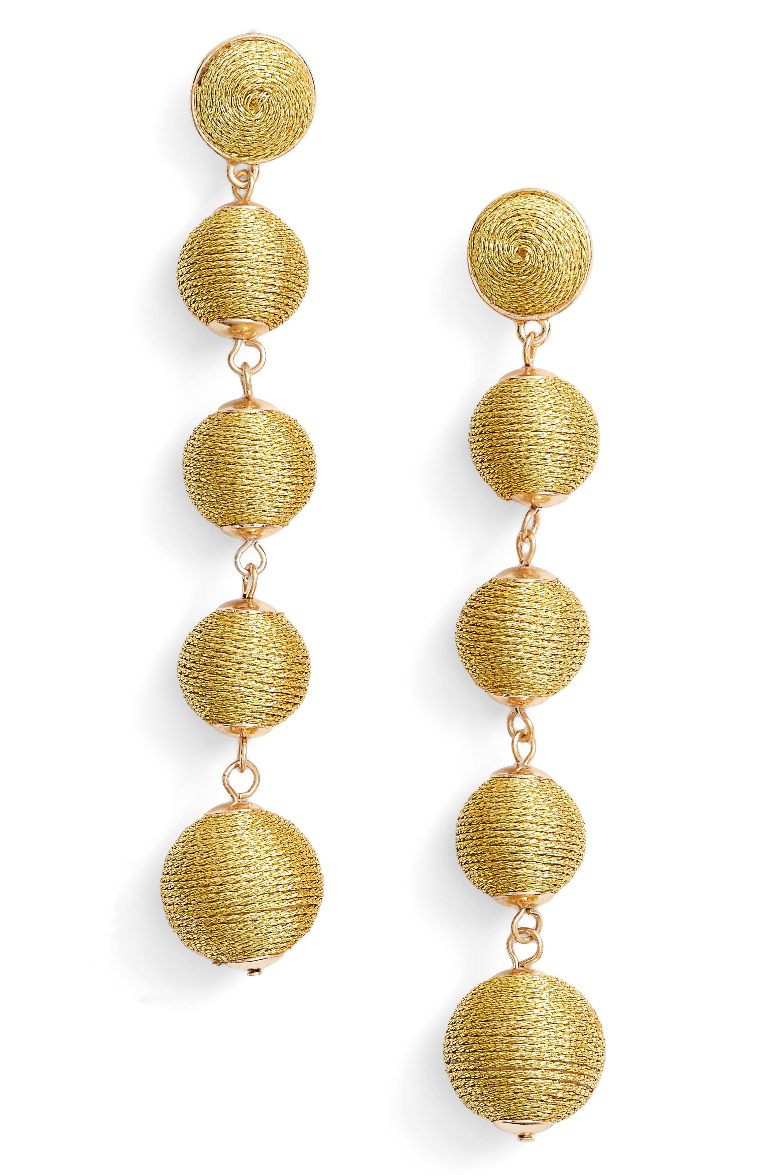 Alternate Image 1 Selected - Baublebar Metallic Crispin Ball Statement Earrings