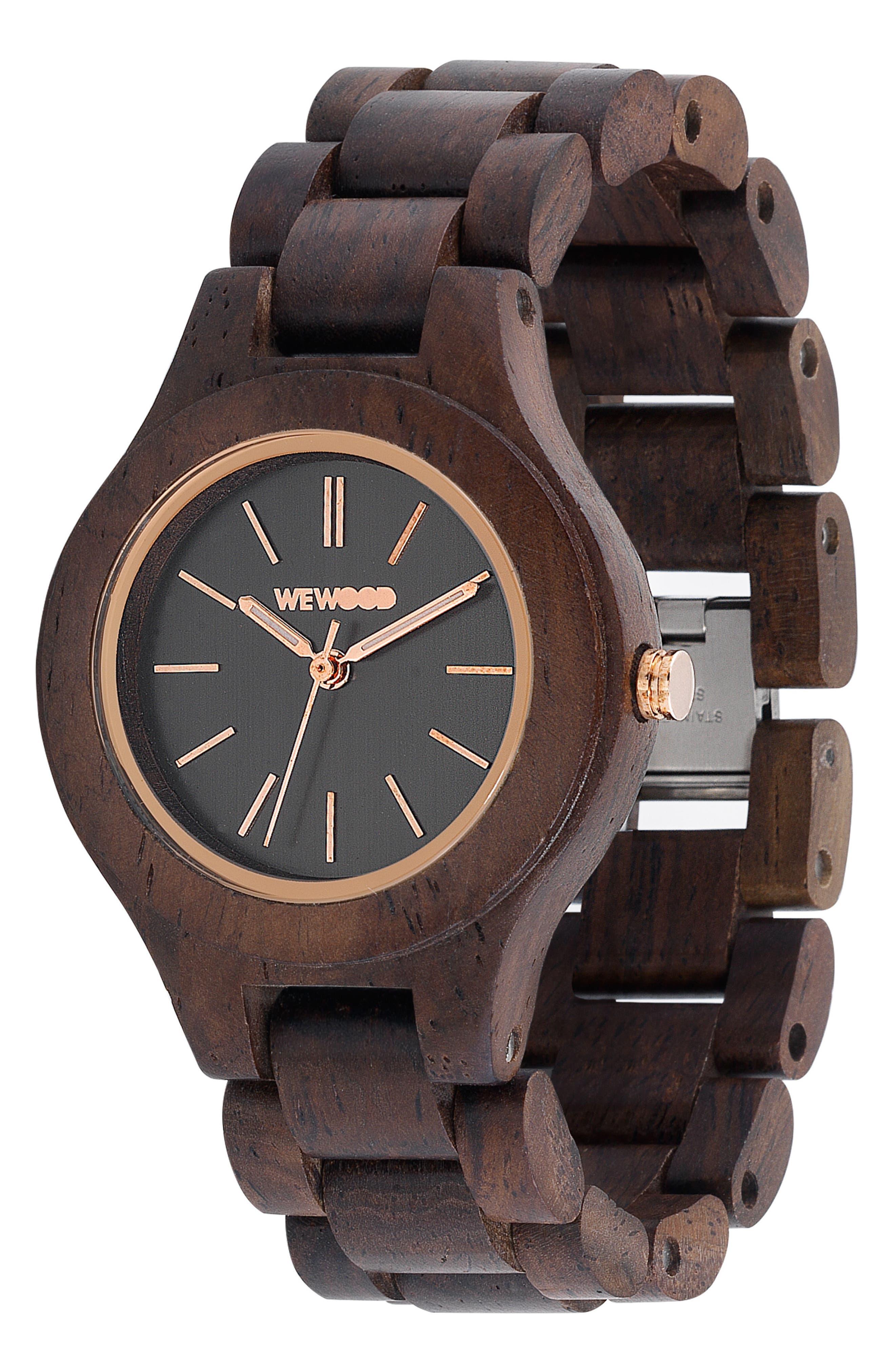 Antea Wood Bracelet Watch, 36mm,                             Alternate thumbnail 3, color,                             Brown
