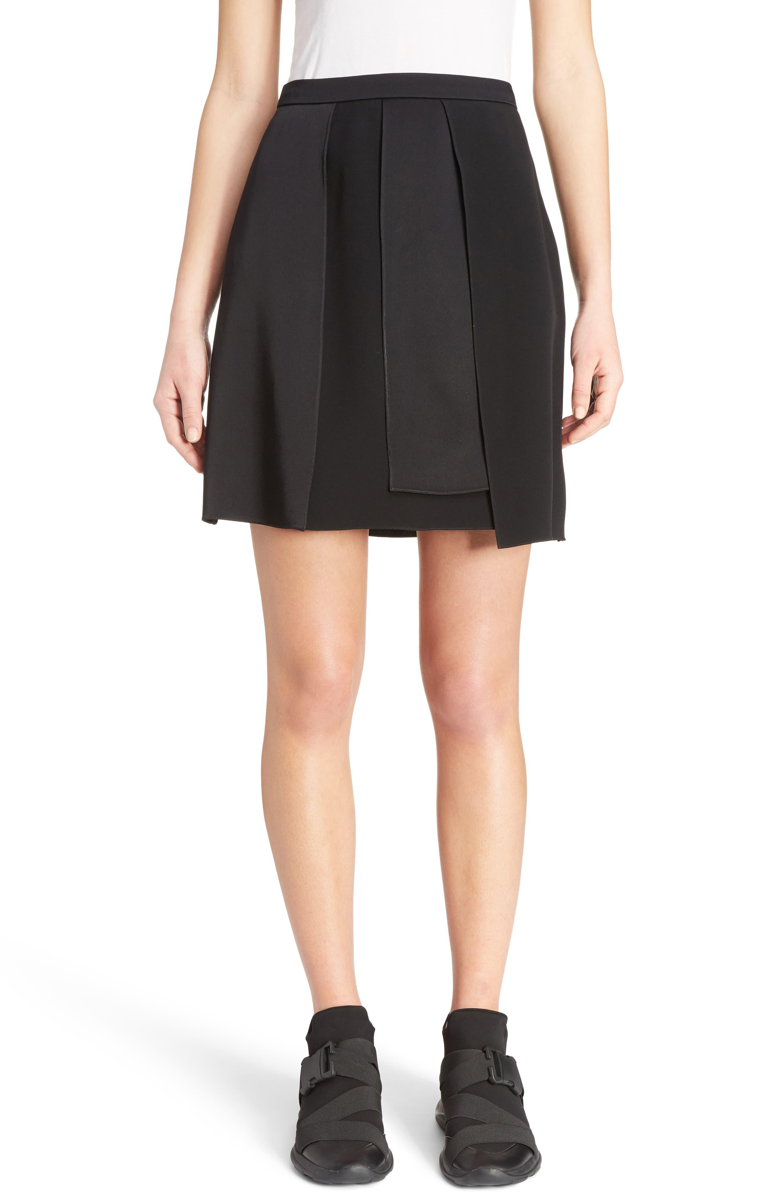 Layered Miniskirt,                         Main,                         color, Black
