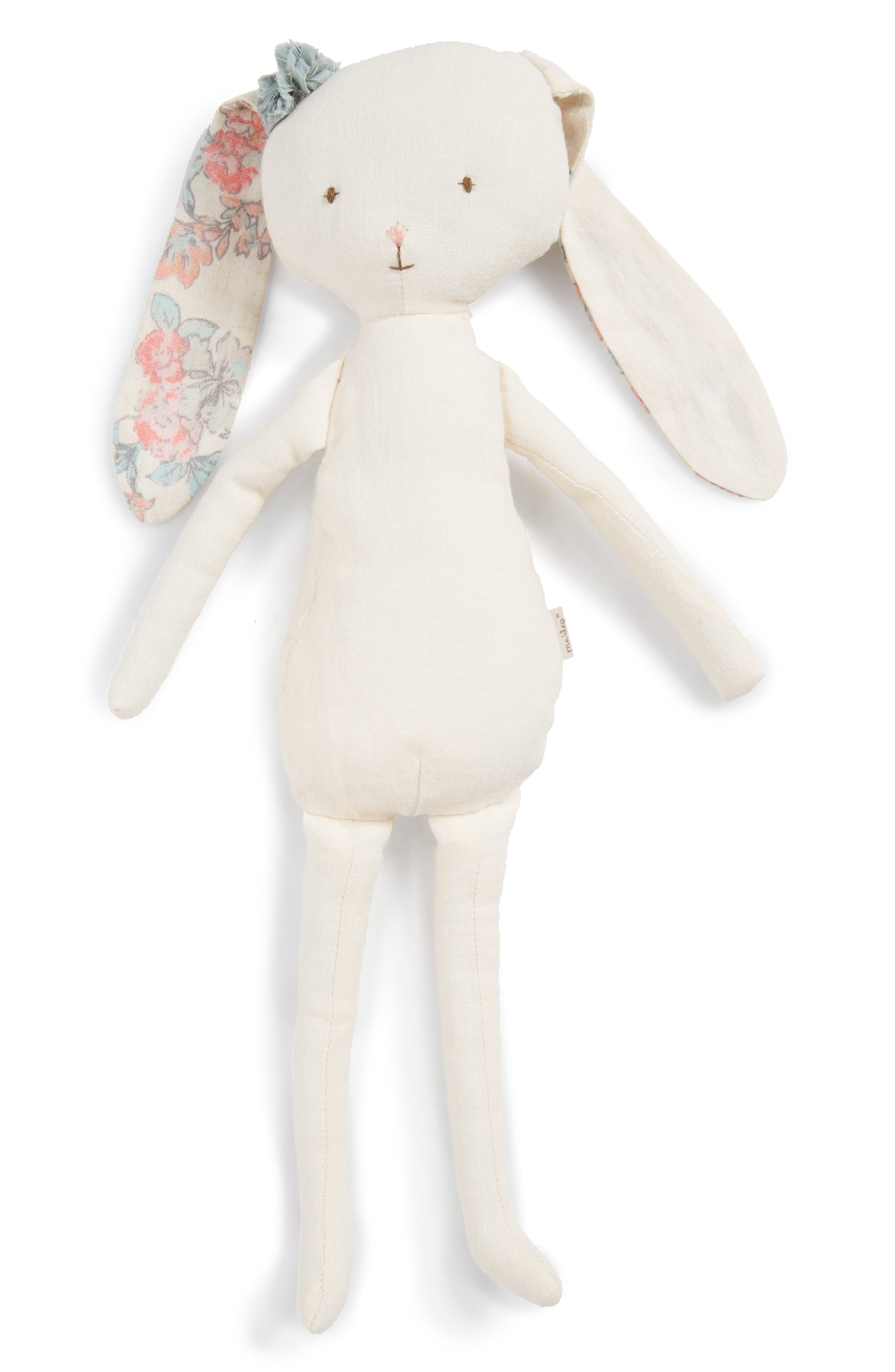Best Friends Bunny Stuffed Animal,                         Main,                         color, Ivory