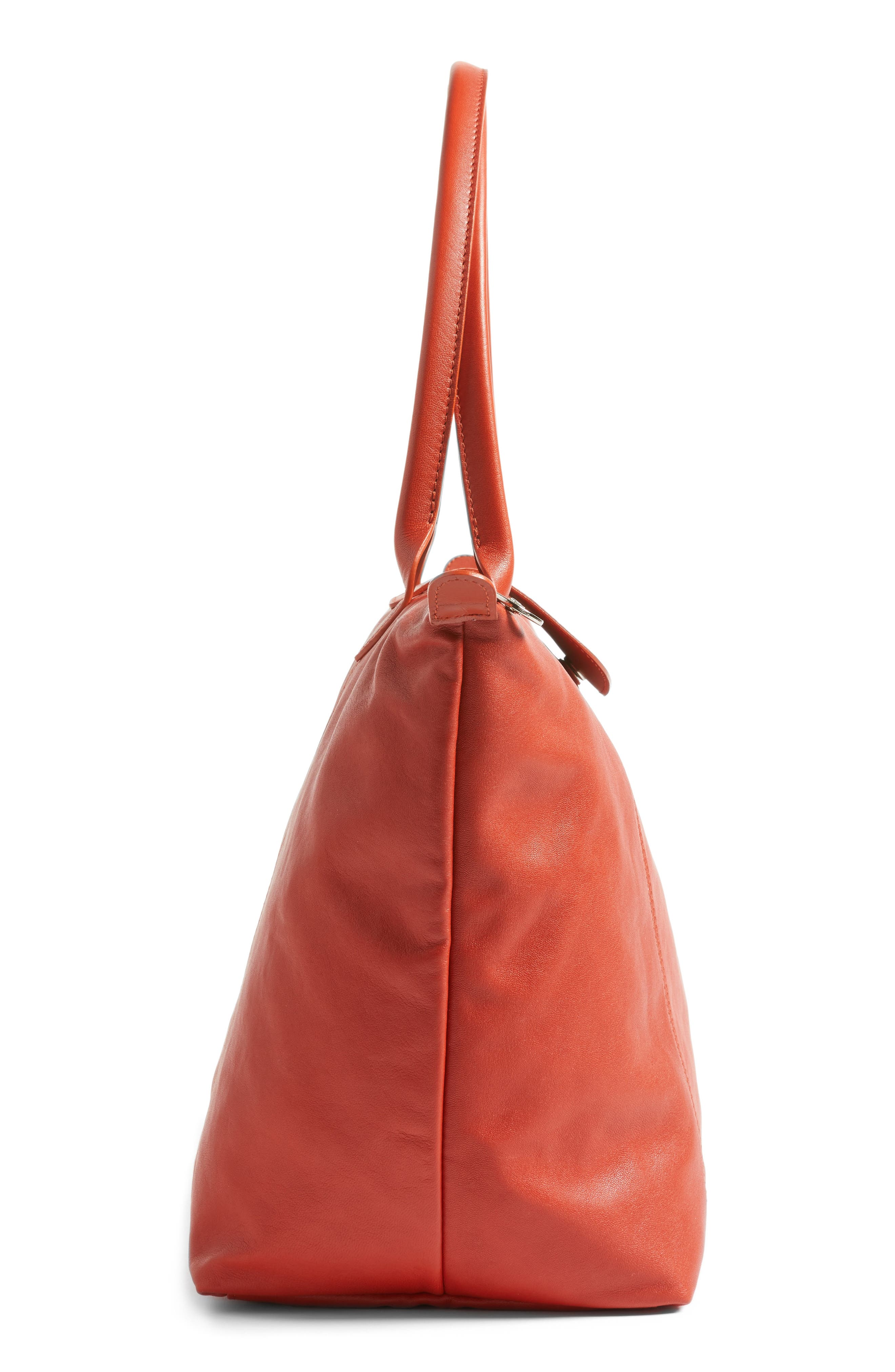 Alternate Image 5  - Longchamp Le Pliage Cuir Leather Tote (Nordstrom Exclusive)