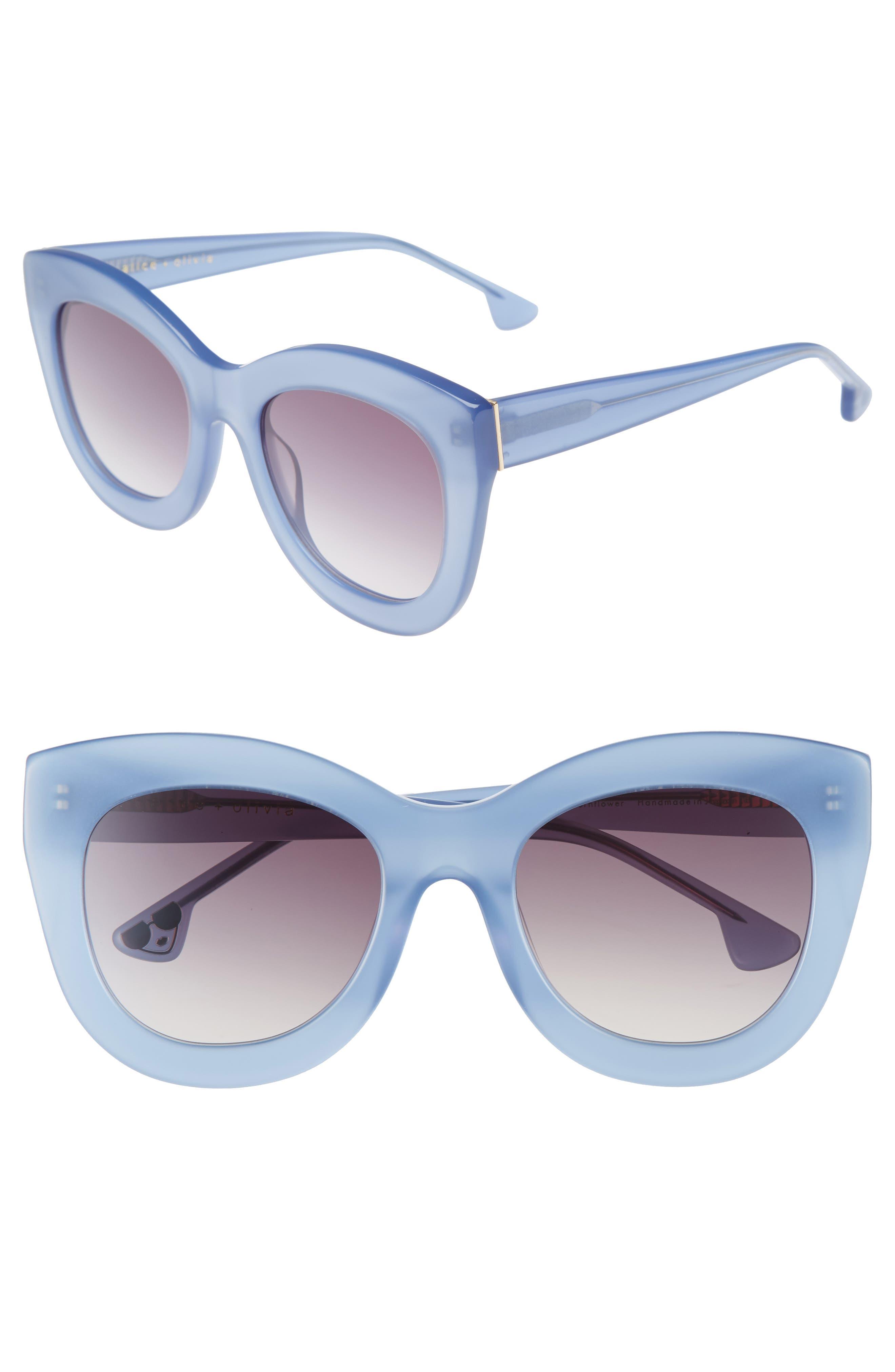 Main Image - Alice + Olivia Madison 56mm Cat Eye Sunglasses