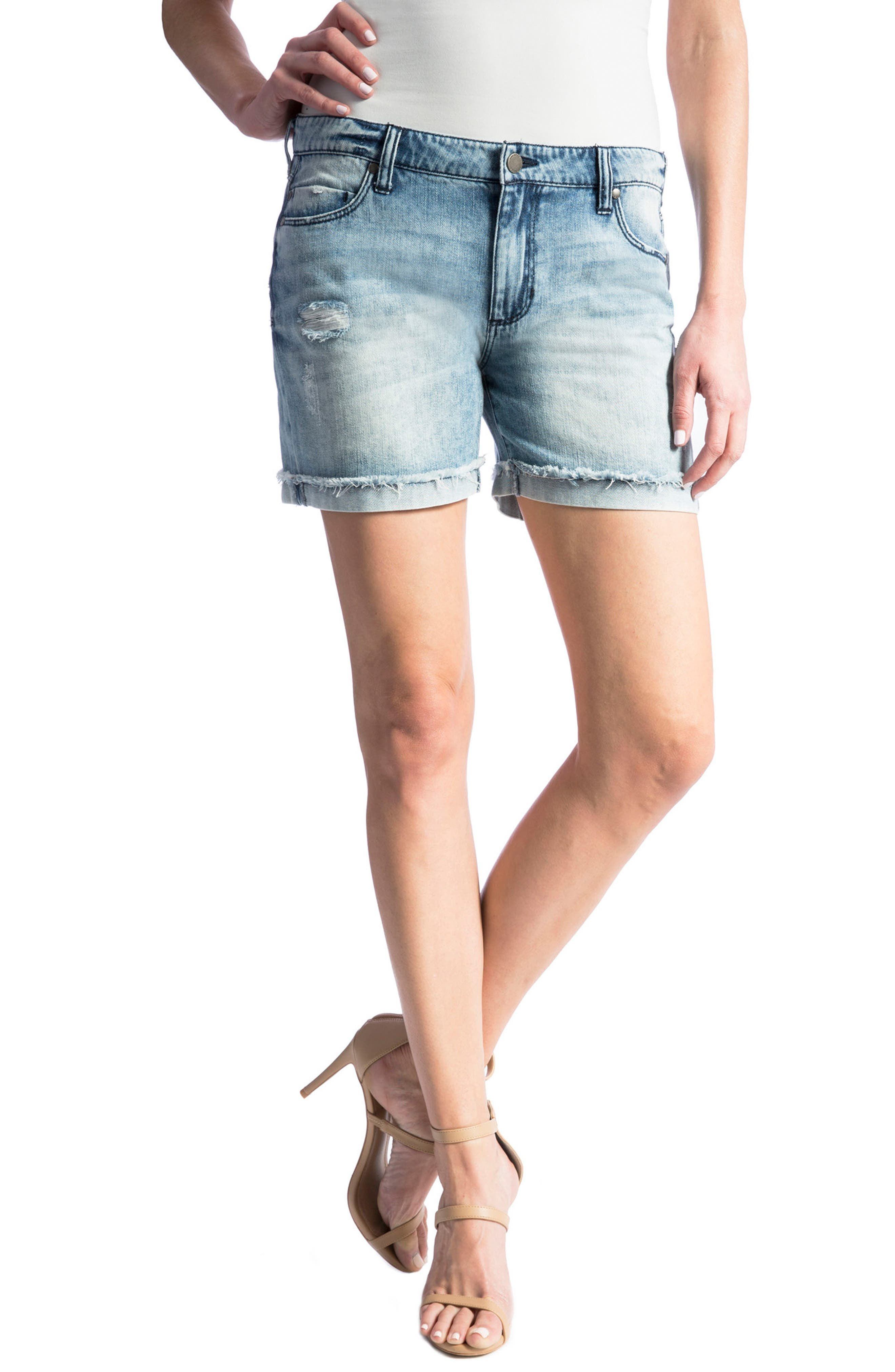 Main Image - Liverpool Jeans Company Elliot Denim Boyfriend Shorts (Stockton Destruct)