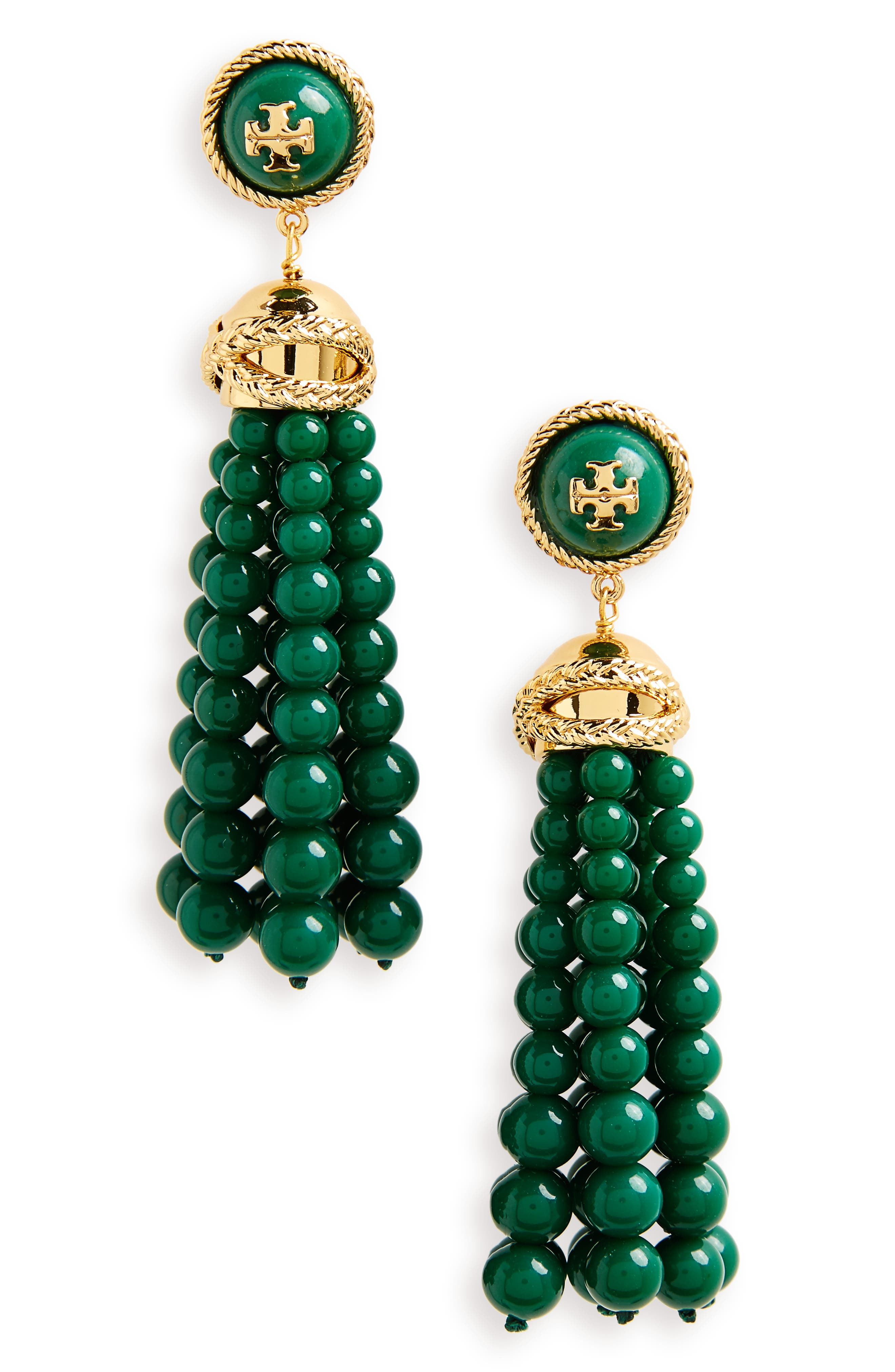 Tory Burch Beaded Tassel Drop