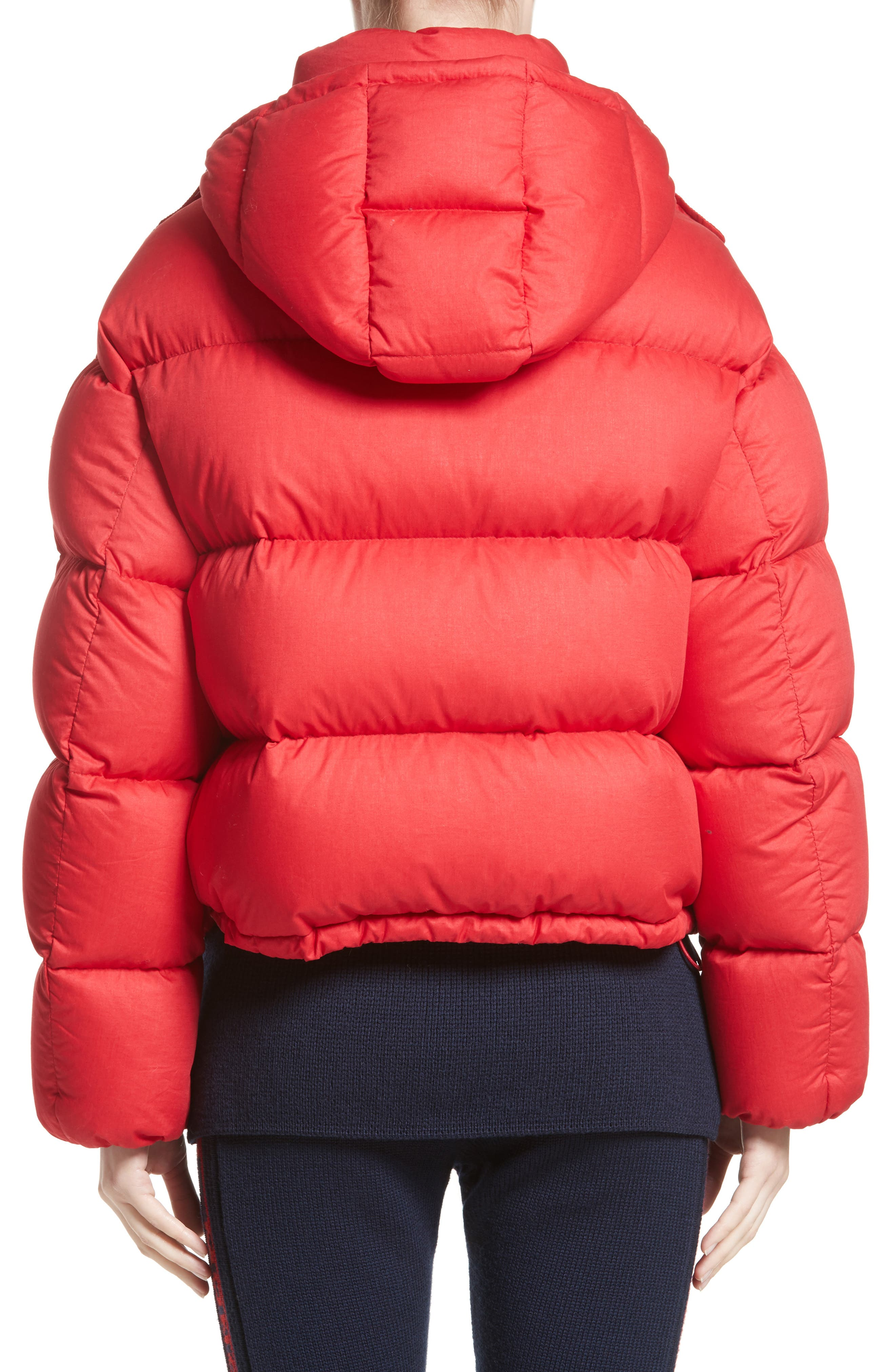 Paeonia Quilted Puffer Jacket,                             Alternate thumbnail 2, color,                             Red