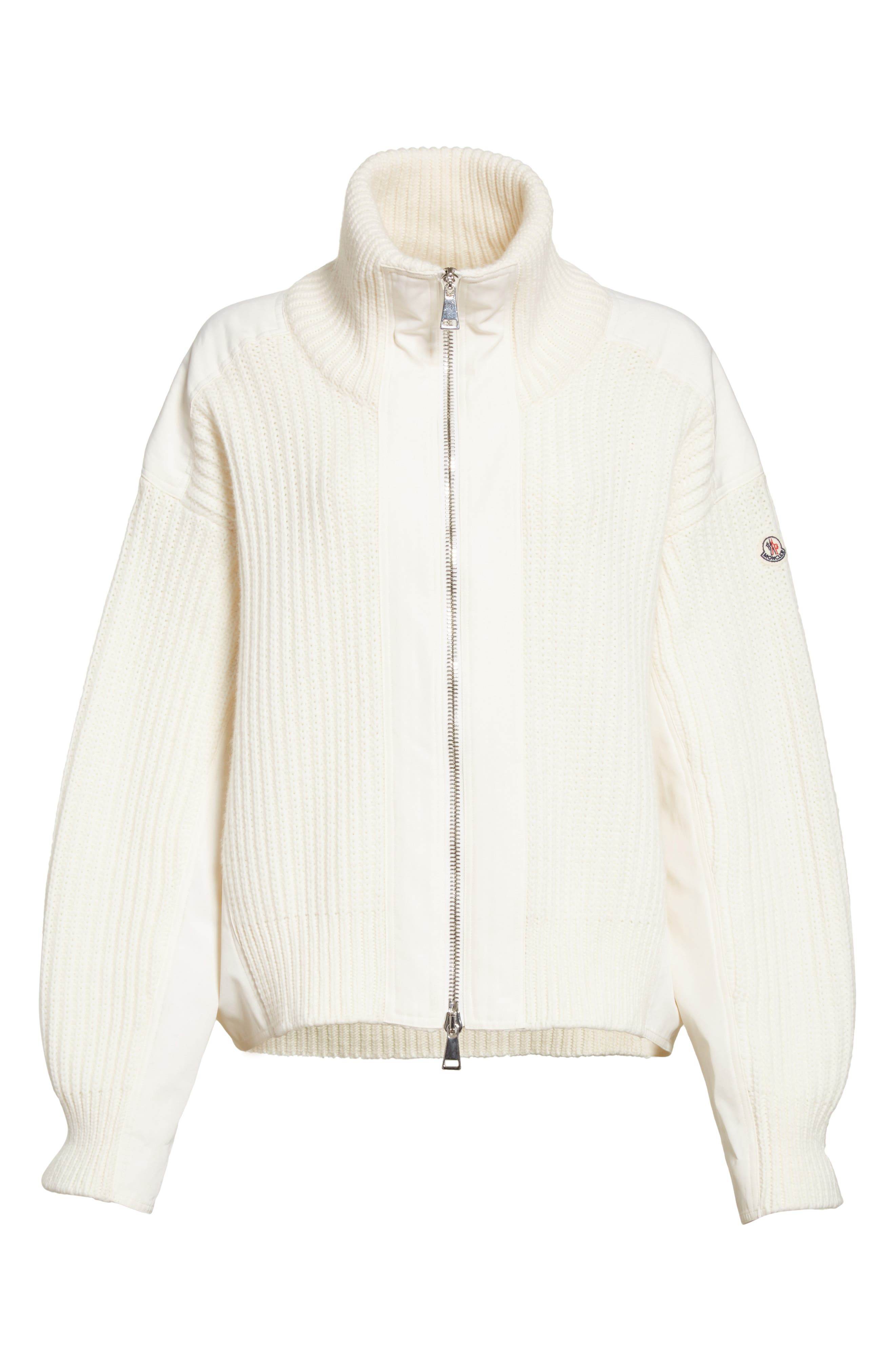 Wool & Cashmere Cardigan,                             Alternate thumbnail 6, color,                             White