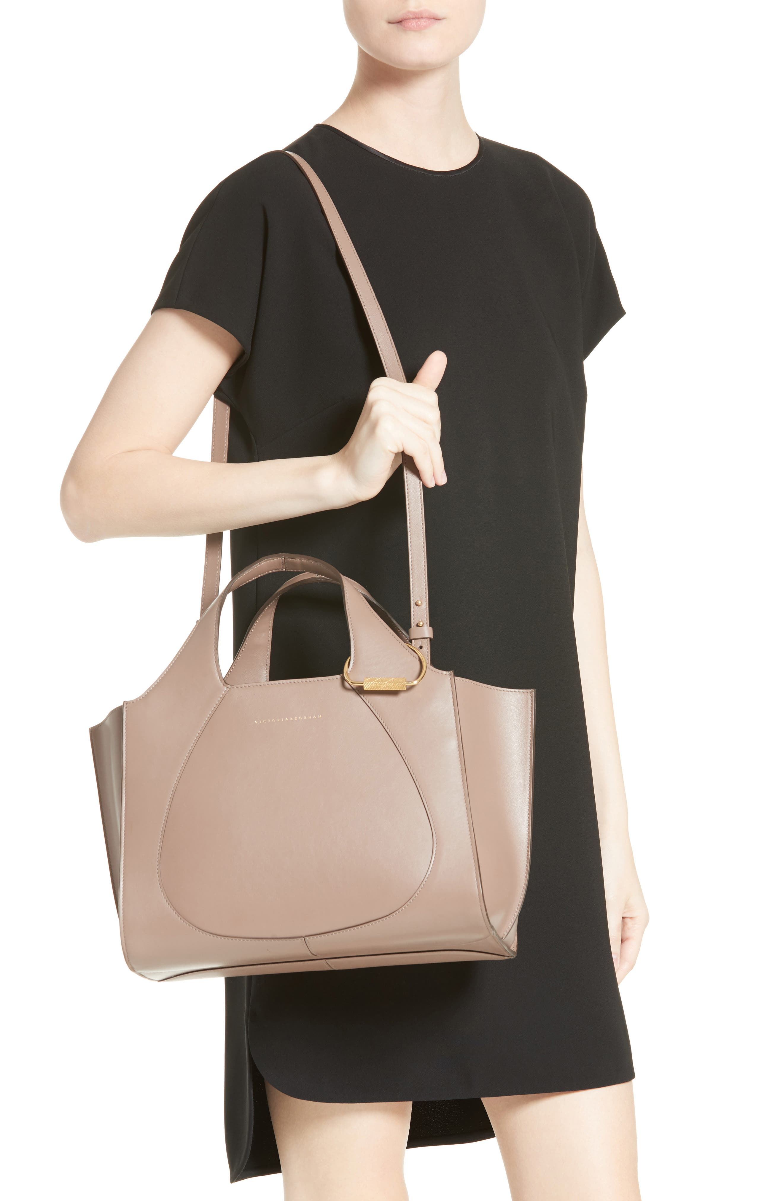 Alternate Image 2  - Victoria Beckham Small Newspaper Leather Tote