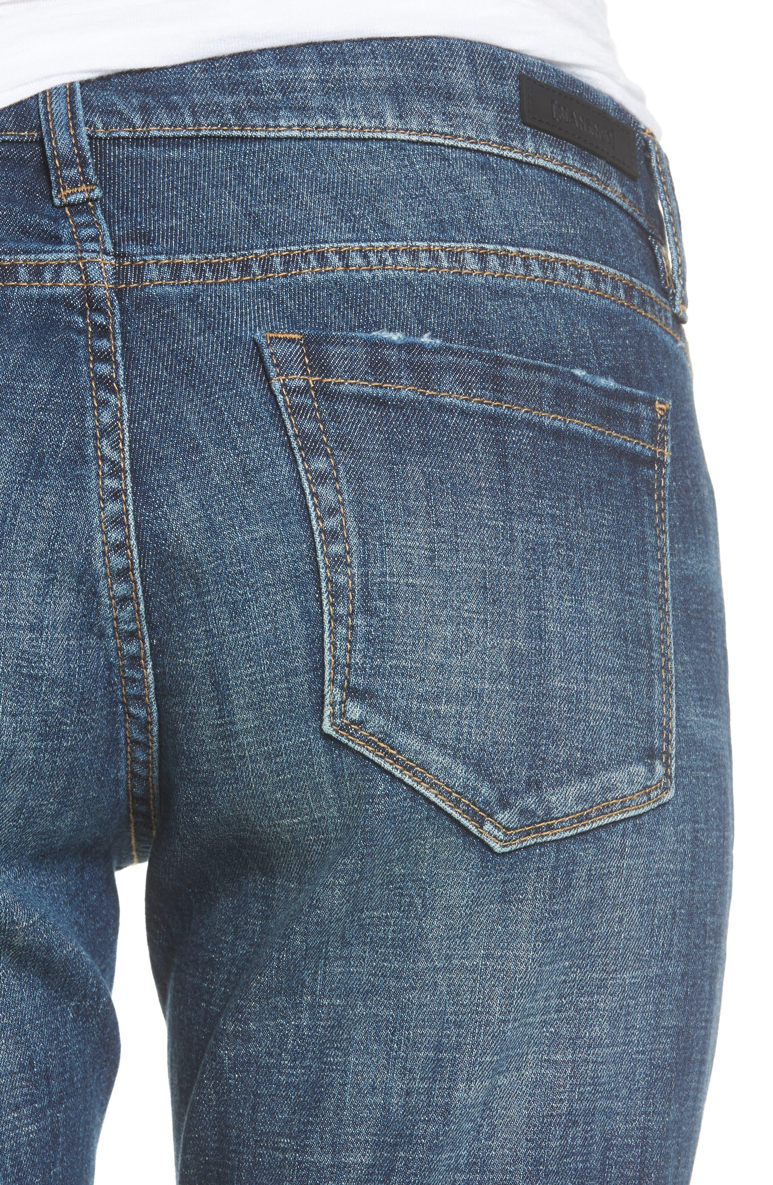 Alternate Image 4  - BLANKNYC Ripped Girlfriend Jeans (Let It Roll)