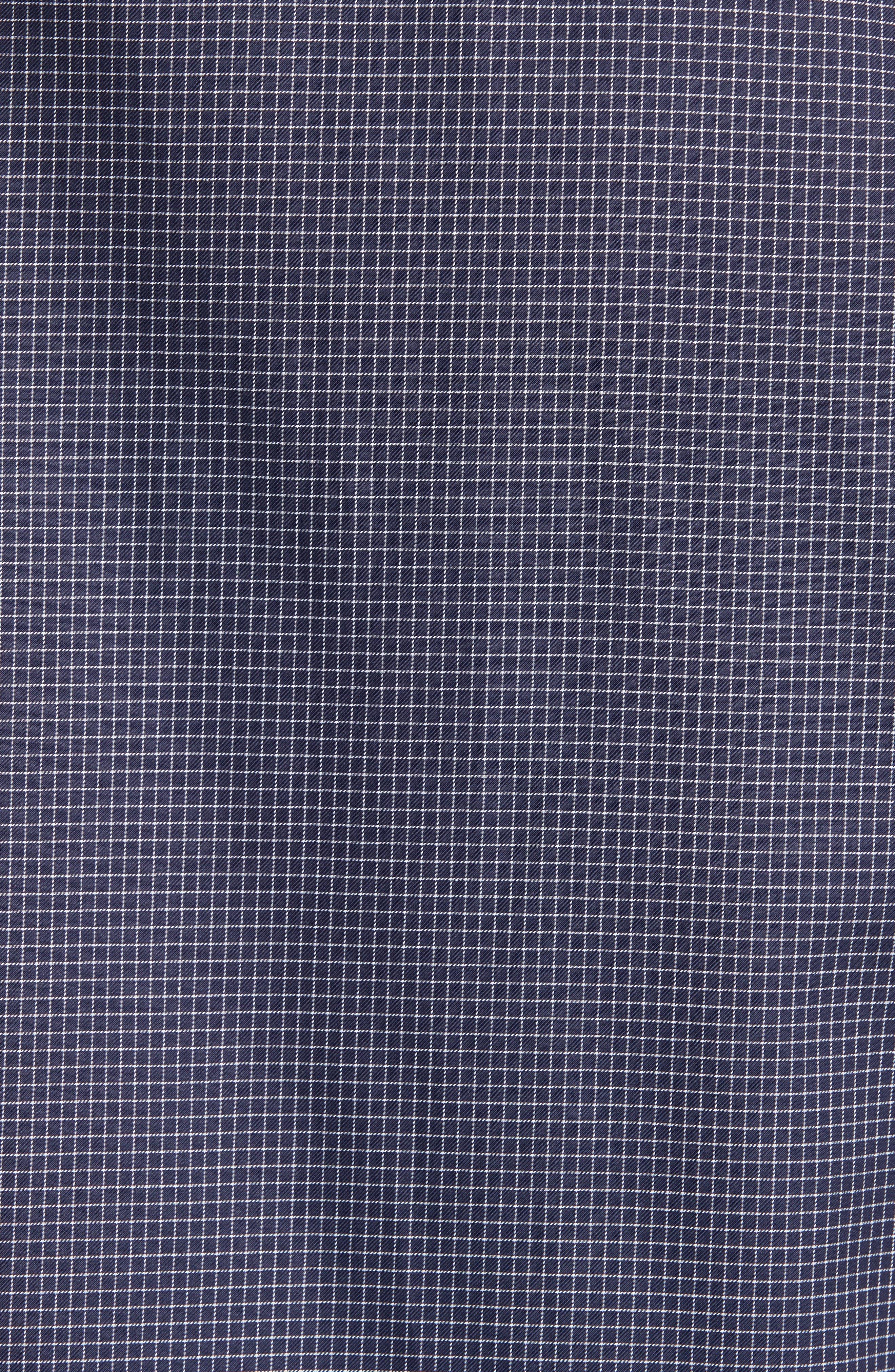 Alternate Image 5  - Armani Collezioni Slim Fit Grid Print Sport Shirt