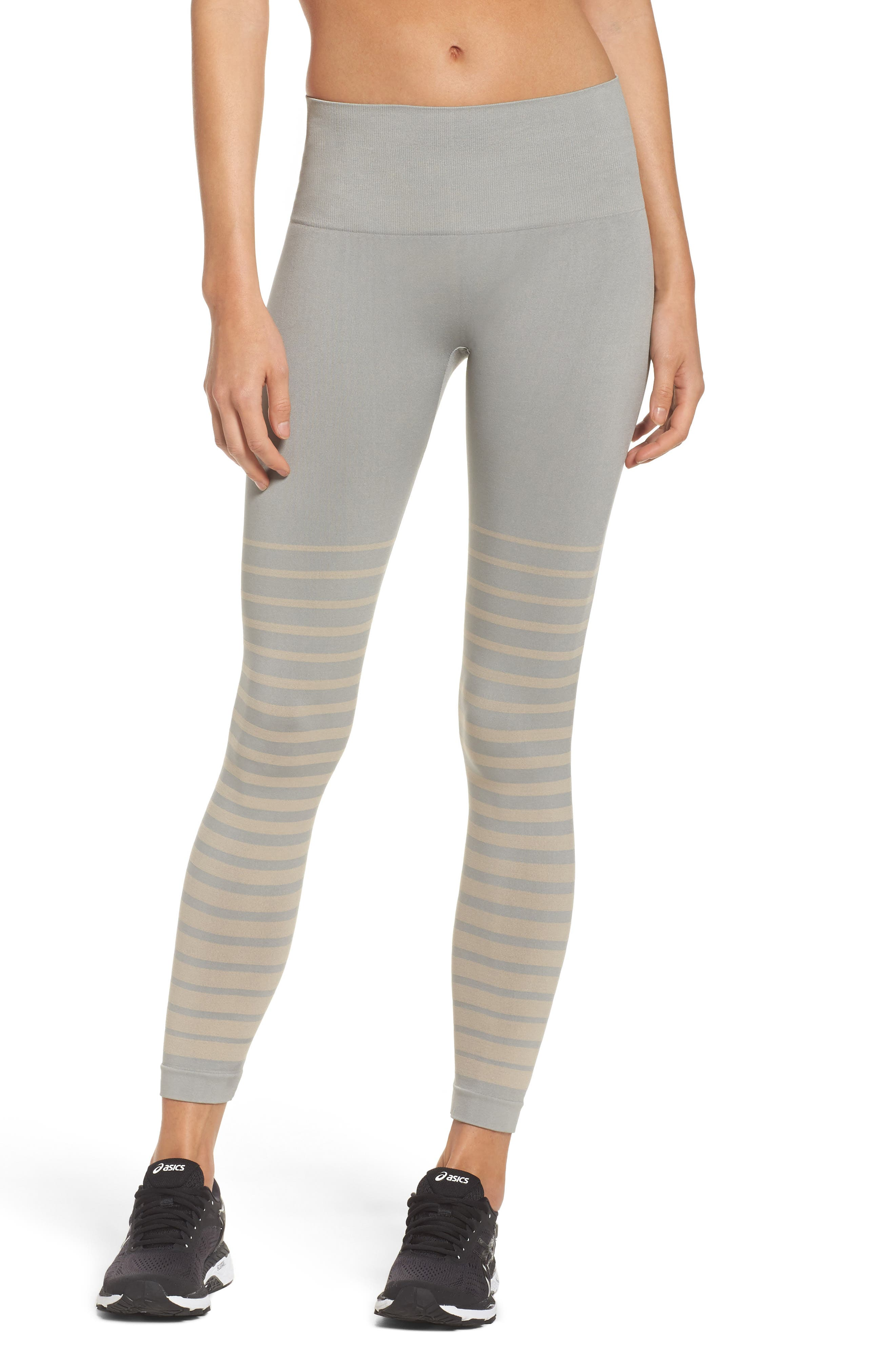 Front Runner High Waist Leggings,                         Main,                         color, Wild Dove And Pink Tint