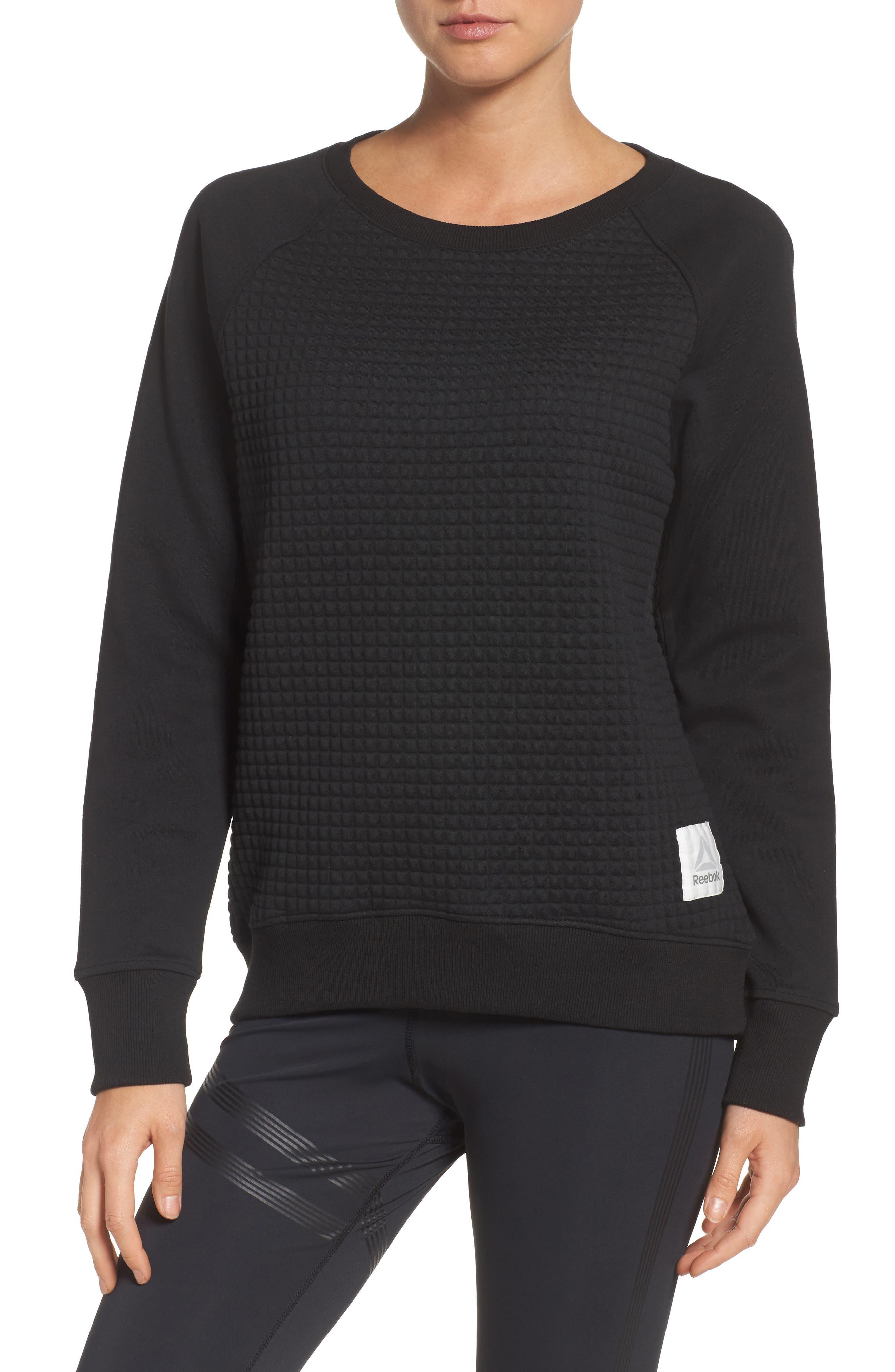 Reebok Quilted Crew Sweatshirt