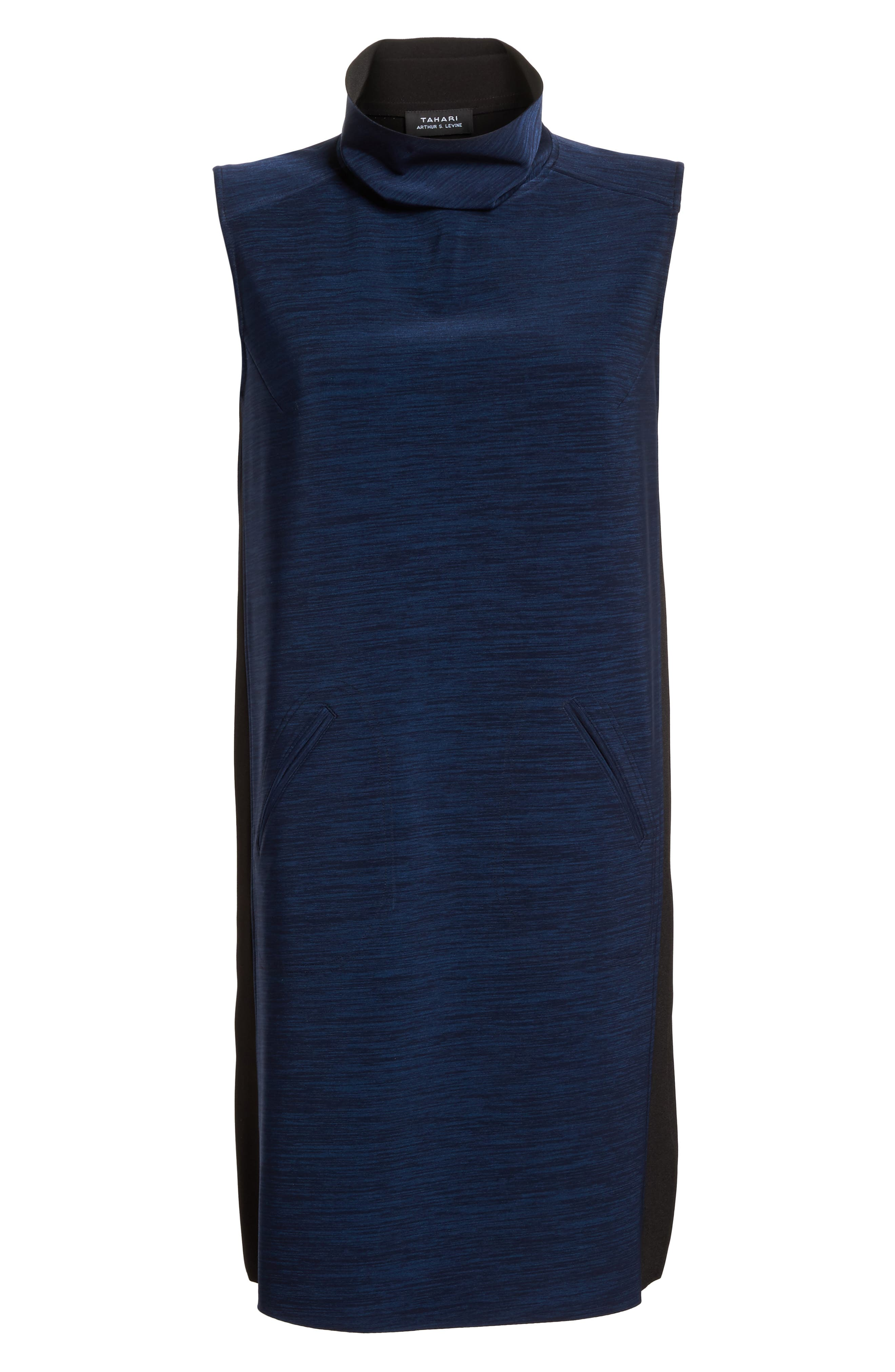 Alternate Image 7  - Tahari Turtleneck Shift Dress (Regular & Petite)