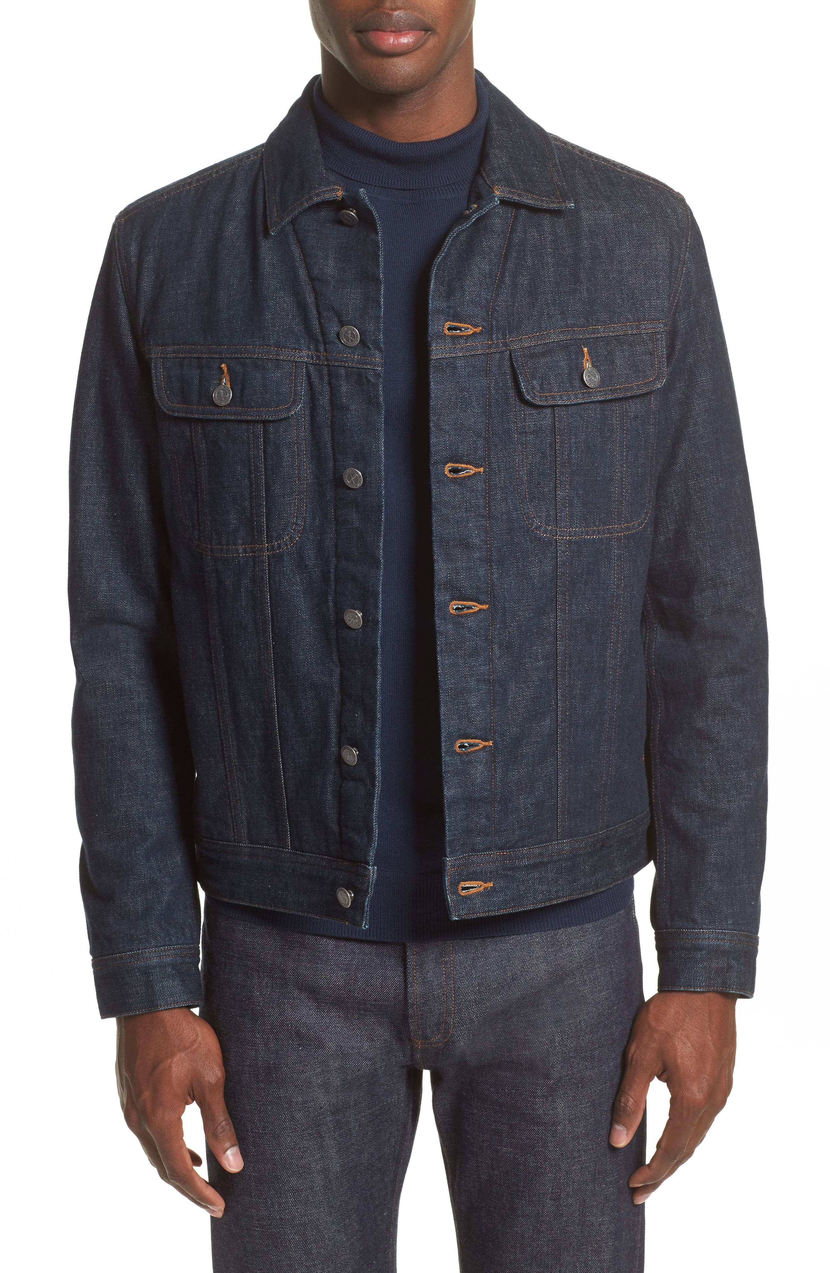 Denim Shirt Jacket,                             Main thumbnail 1, color,                             Indigo